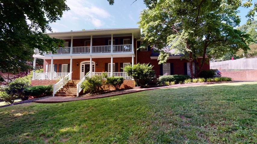 If you are looking for a beautiful home in a fantastic community, look no further. Before you even pull up to this picture-perfect home, you will know you are in a special place. As you enter the gated community of Mill Run, you will cross the covered bridge that runs over a babbling creek. You may even see families fishing in the pond while turtles catch a few rays nearby. Once you cross the bridge, you will notice a small drive that leads to the neighborhood clubhouse, tennis court, playground and pool. And we haven't even begun talking about the home. This home will draw you in with curb appeal and the double front porches. As you enter the foyer, you will find a perfect spot for an office, music room or sitting area with double doors. After you walk through the foyer with its lovely staircase, you will enter the coziest of living rooms. With custom built ins, fireplace and plantation shutters (which are a feature throughout the home), this is the perfect room to relax with your family, or cozy up with a good book. There is also a charming screened in porch located directly off the living room. Between the living room and kitchen there is a half bath perfect for guests. Once you enter the kitchen, you will find a large eat in area, ample cabinet space, gas range, wine cooler and walk in pantry. Connected to the kitchen is the formal dining room, perfect for special get-togethers with friends and family. On the back of the main level is one of two master suites. This large master boasts three closets, a custom master bath with beautiful tile and oversized shower. There are also French doors that lead to your backyard oasis. In addition to the screened porch, there is a large deck with composite decking, and a salt water pool with new liner and cooling decking to keep little feet from getting too hot. A laundry room and garage round out the main level. Upstairs consists of four large bedrooms, one with a walk-in closet and en suite bathroom that could serve as an a
