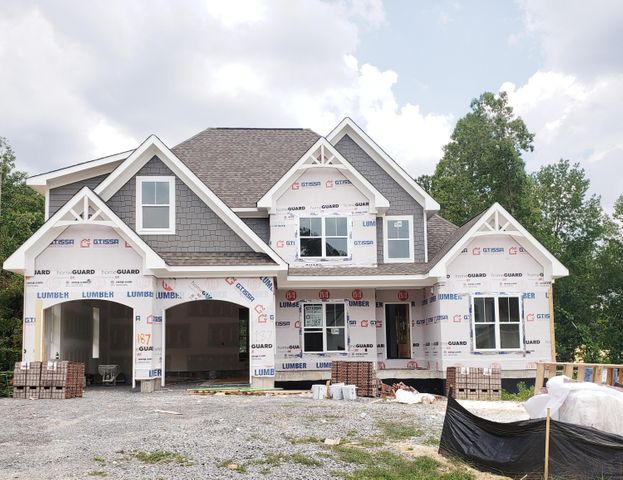 House has 48 hour first right of refusal.Photos updated 6/15Photos are similar to what home will look like when complete. Are you looking for a 4 bedroom, 3.5 bath home with about 2700 sq.ft that has an unfinished walk-out basement. A home that has an abundance of high-end finishes. If you are, then I have the perfect home for you. 3766 Lacy Leaf Lane located in the quaint community of The Ridges Of Crystal Brook. This new construction home will have it all. On-site finished hardwood floors on the main level, specialty ceilings, gorgeous custom kitchen cabinets, large island, Kitchen Aide appliances with hood cabinet, farm sink, stone fireplace. These are just a few items that will set this apart from other homes.