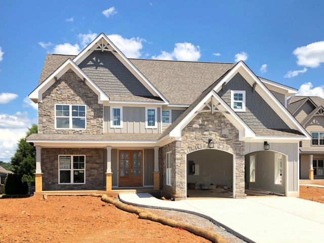 """Photo updated 7/203280 Gavin Way located in the community of Hawks Landing is going to become someone's dream home! The exterior of the home will feature Brick, Stone, Hardie Siding and Batten Board. From the covered front porch that will definitely accommodate a few rocking chairs through your open foyer and then into the 18-8x16x8 Great Room that features Coffered Ceilings and right out to the 18x12 cover deck this will be floor plan that you will love. The home will feature specialty ceilings all through the main level. The kitchen will have an island big enough for seating and a walk-in pantry. Your master bedroom will feature a vaulted ceiling and a door that takes you right out to your covered porch. That is such a nice feature to have in your master bedroom. This home will be full of those """"extra nice feature"""". Gorgeous hardwood floors will be on the main level of the homes, custom cabinets, designer paint colors are just a few of the high end features this home will have. The upstairs will have 3 bedrooms or if you prefer it could be 2 bedrooms and a bonus room with the 2nd level being finished off with a loft area. This is truly a home that will not last long.   Window screen no longer come on new construction homes."""