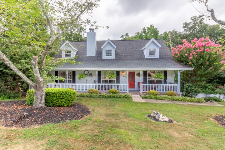 WOW! Beautiful home in Hurricane Creek with low county-only taxes, zoned for desirable Westview/E. Hamilton schools! Everything about this beautiful Cape Cod home evokes a gracious and relaxed lifestyle. Nestled on a peaceful cul-de-sac, the large (.69 acre) lot is professionally landscaped and the low maintenance backyard has all the privacy you could ask for! The covered front porch, perfect for sitting with a glass of sweet tea or wine, runs the length of the house. The master bedroom on the main level features a wood burning fireplace with gas starter, a huge bath with double vanity, walk-in closet and jetted garden tub and separate shower. Upstairs features two bedrooms and a full guest bath, ample storage space and it's own good-sized sitting area that can double as an office. Recent updates include new exterior paint, new 50 gallon gas water heater, extra insulation in upstairs walk-out attic area. This home is perfect for indoor and outdoor entertaining. The large driveway could park 10+ vehicles! Multiple decks in the private back yard provide the perfect area for large or small gatherings. The house features hardwood floors throughout, a gorgeous kitchen with granite countertops and stainless appliances, two woodburning fireplaces (master bedroom and den) both with gas starters, and upgraded trim and mouldings throughout the home. This house has TONS of storage, including a partial crawlspace high enough to stand in. The finished basement could be used as a workout area, family recreation area or even a 4th bedroom! The location is family friendly yet private, in the county yet minutes from every convenience and retail shopping. Don't wait! Make your appointment today to see this awesome house.
