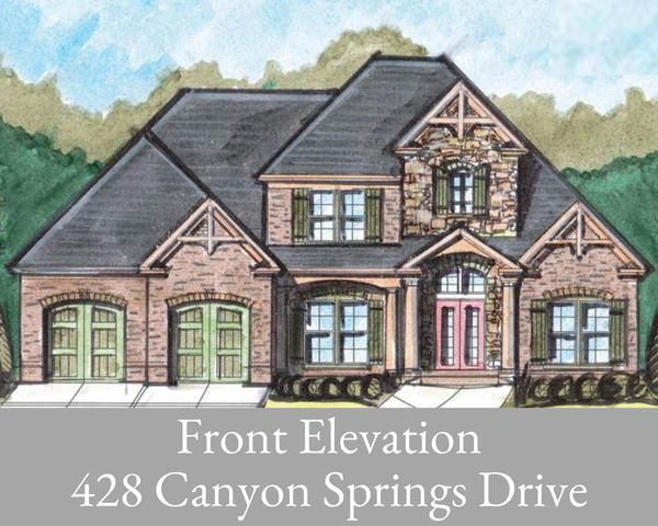 New construction in The Canyons which offers sidewalks, a community pool, playground, scenic views, and is convenient to Highway 27, Downtown Chattanooga, lake, parks, outdoor recreation, restaurants, Northgate Mall, major medial, and much more. This 5 bedroom, 4 bath home will have 3,431+/- finished sq.ft, and an additional 2,315+/- unfinished sq.ft. in the full basement. The welcoming foyer leads you to the modern floor plan that connects to all spaces. There is a formal dining room and living room to the left and right of the foyer and straight ahead is the den that has a gas fireplace and opens to the deck and eat-in kitchen. The main-level master bedroom has a sitting room, walk-in closet, and en suite with a walk-in shower and garden tub that is perfect for relaxing. Also on the main level is another bedroom, full bathroom, and laundry room. Upstairs is a lounge area, 3 bedrooms, 2 full baths, and a bonus room. There is an attached 2-car garage and a 3rd car garage in the back. This home is under construction and will be similar to the elevation and pictures shown. The elevation, square footage, and floor plan are subject to change. The tax amount is for the lot only and is subject to change. The buyer is responsible to do their due diligence to verify that all information is correct, accurate, and for obtaining any and all restrictions for the property.