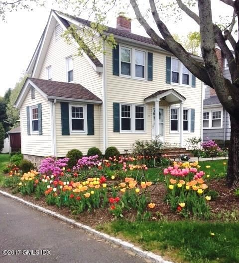 Wonderful opportunity to live in the charming village of Old Greenwich!  This well kept and updated 3BR 2 full bath Dutch colonial has Living Rm w/fireplace plus library or den. Formal Dining Room with built-in window seat, Eat-in Kitchen plus pantry with desk and laundry.  Pull down attic with attic fan is fully floored for storage. Updates include: 5 yrs old Roof w/lifetime guaranty, Hardwood flrs. under carpet, Newer windows, furnace & hot water heater. 2 Car oversized Garage w/Loft/storage.  Sprinkler systemfor front lawn. Great location - walk to Train, Library, Elementary School, Houses of worship, Binney Park and the village of Old Greenwich! Ready to move right in!