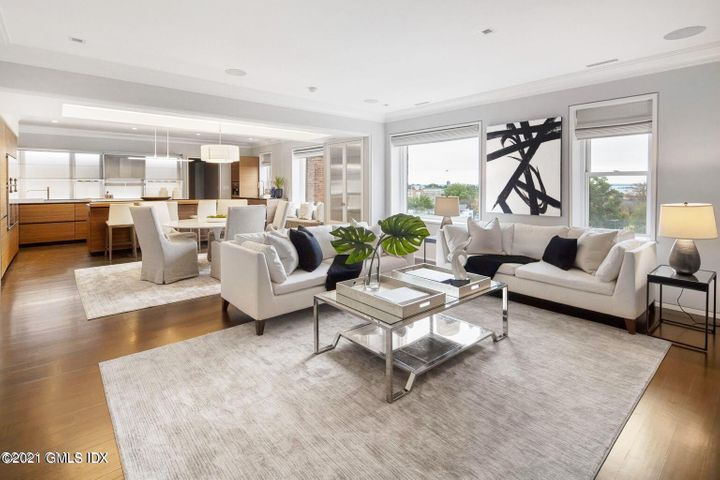 Open Floor Plan with Living room dining room and kitchen