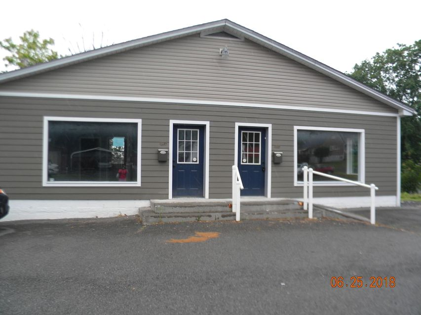 Looking for the the perfect location for your business....this is it.  Located in Fairlea on Route 219 north just past the Fair grounds.  Two office spaces that are joined by a door.  use one side for your self and rent the other.  Each side has a large open floor space, office in back and bathroom.  Newly renovated and ready for you to start to work.