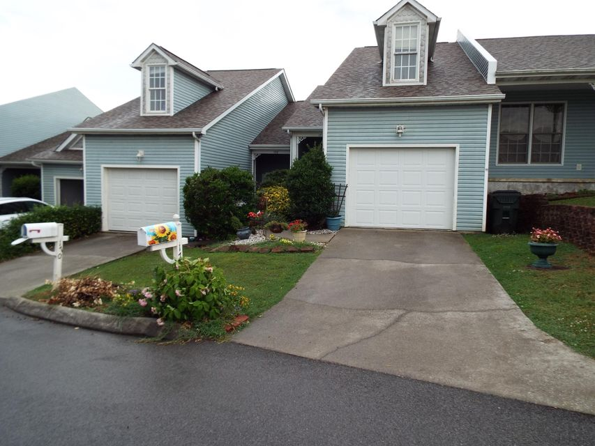This quiet subdivision is located far enough away from busy downtown Sevierville yet is only a few minutes away. This unit is easily accessible with no steep mountain roads to access the condo. There is a one car garage that leads to the interior of the home. Once inside, on the main level, is the living room and dining area with an adjoining kitchen. Take a step out on the back deck to enjoy the outdoors. Also, on this level is the first bedroom with full bathroom and laundry closet. Upstairs is the large master bedroom, master bath with a whirlpool tub, a large walk-in closet, separate shower stall and separate water closet. Adjoining the master bath is another room currently being used as a bedroom that would also be great as an office, nursery etc...