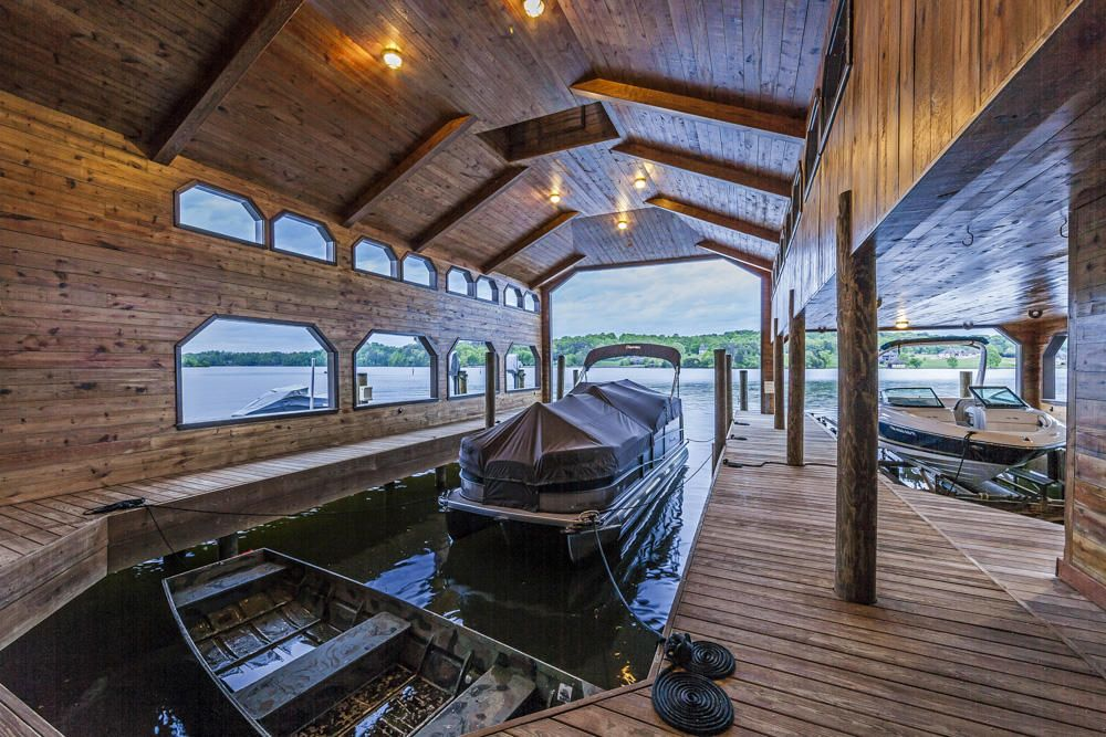 boat slips in boathouse