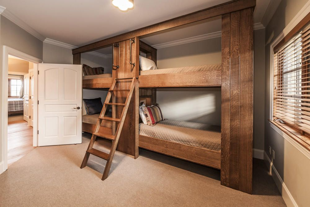 upper level bunk bedroom