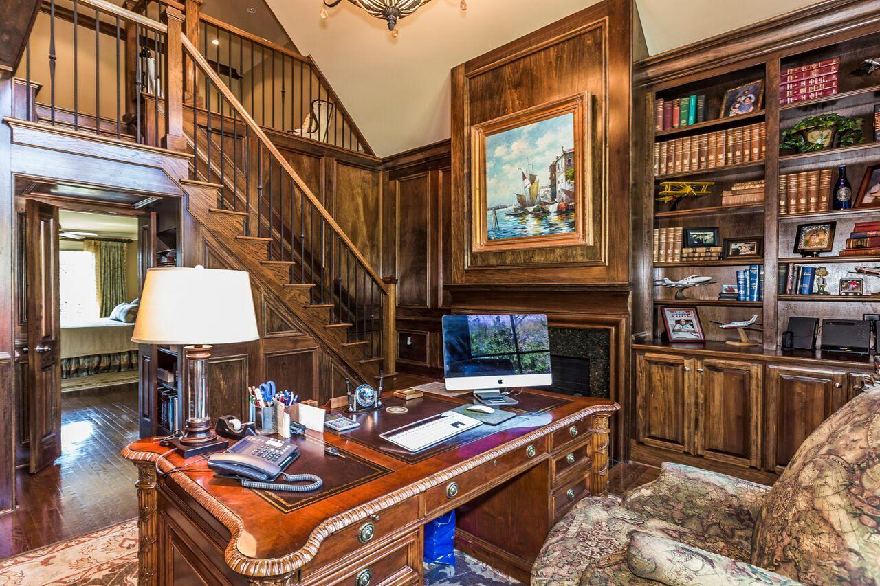 main level study off master suite