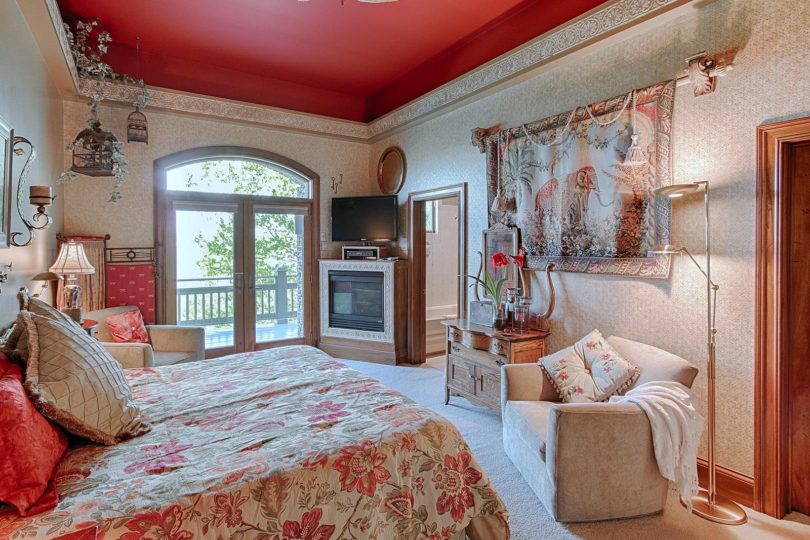 Bedroom 2 has fireplace
