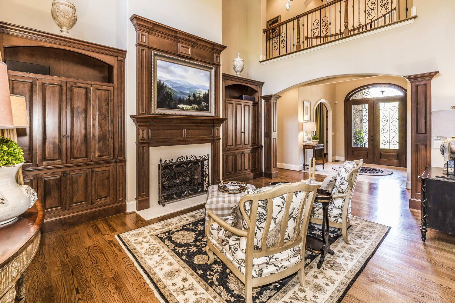 great room built ins