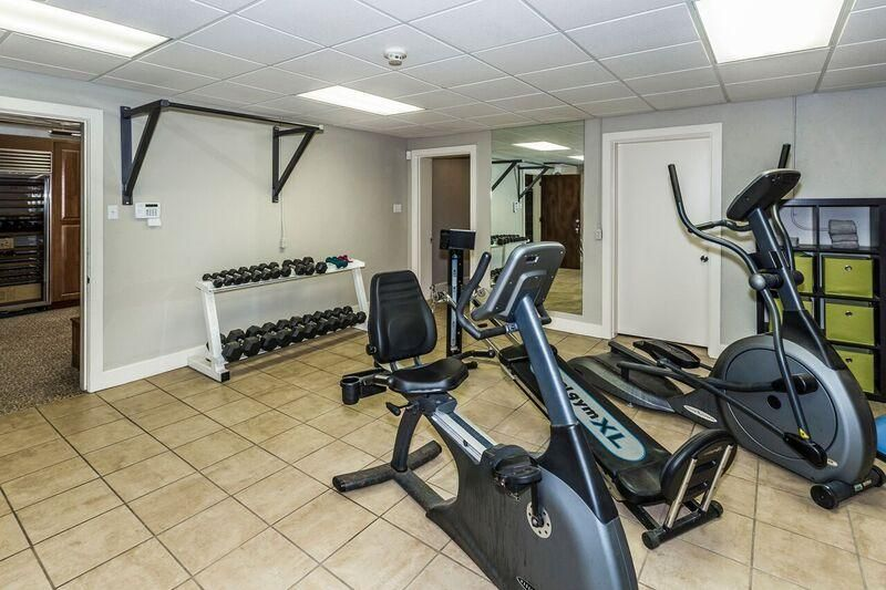 lower level exercise area