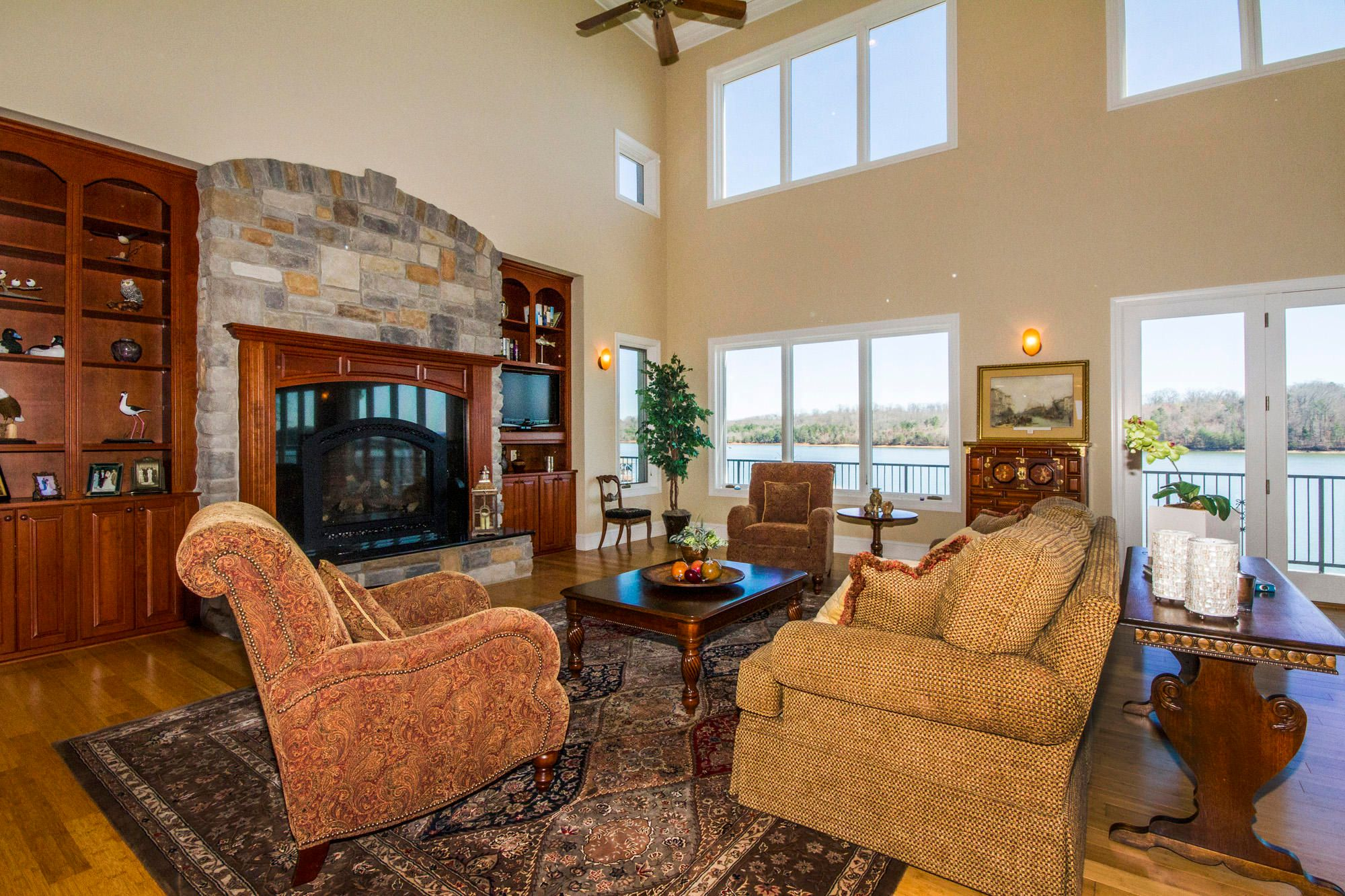 Stone Fireplace in the Gathering Area!
