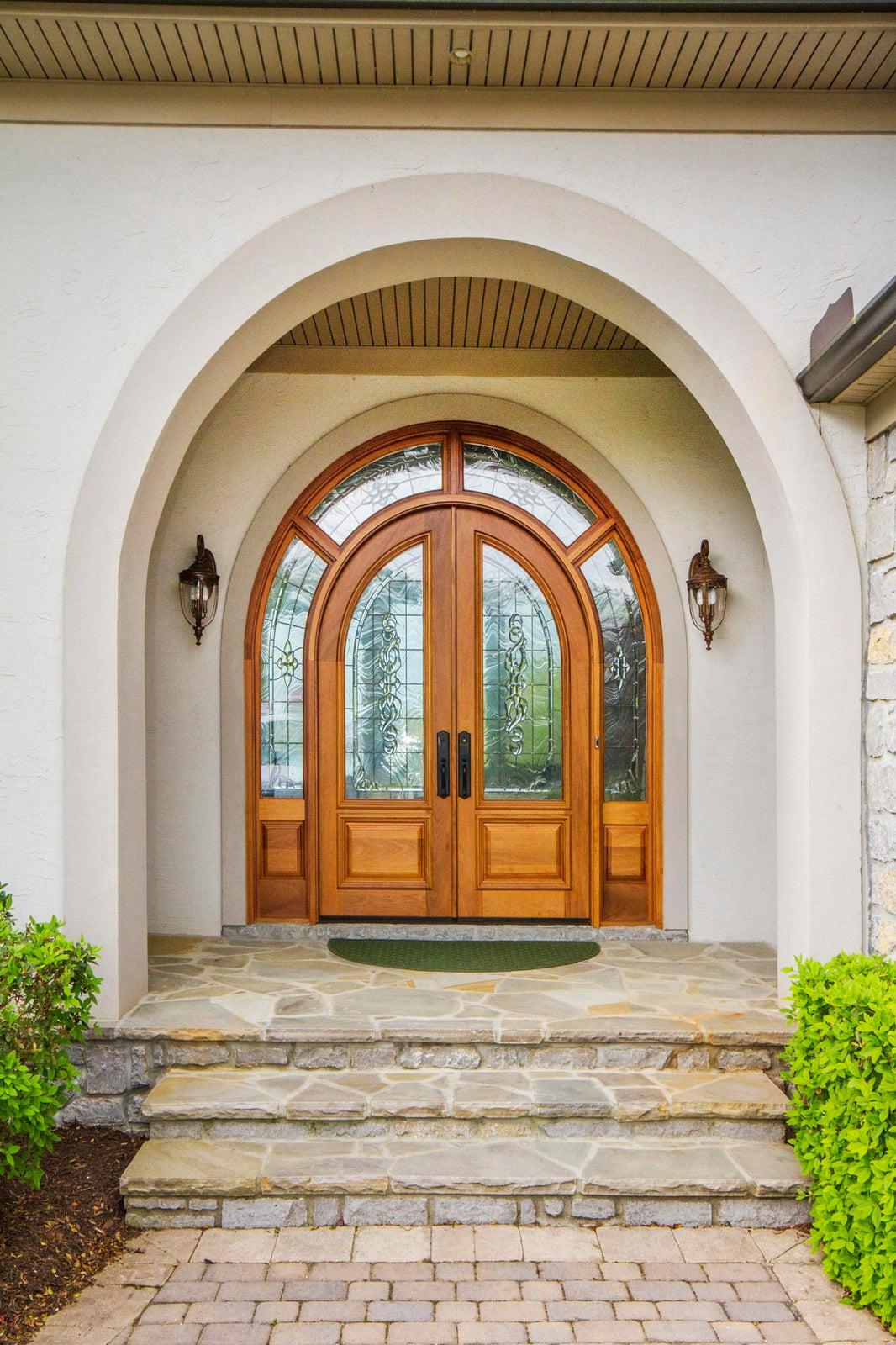 Honduran Mahogany Doors Welcome You...