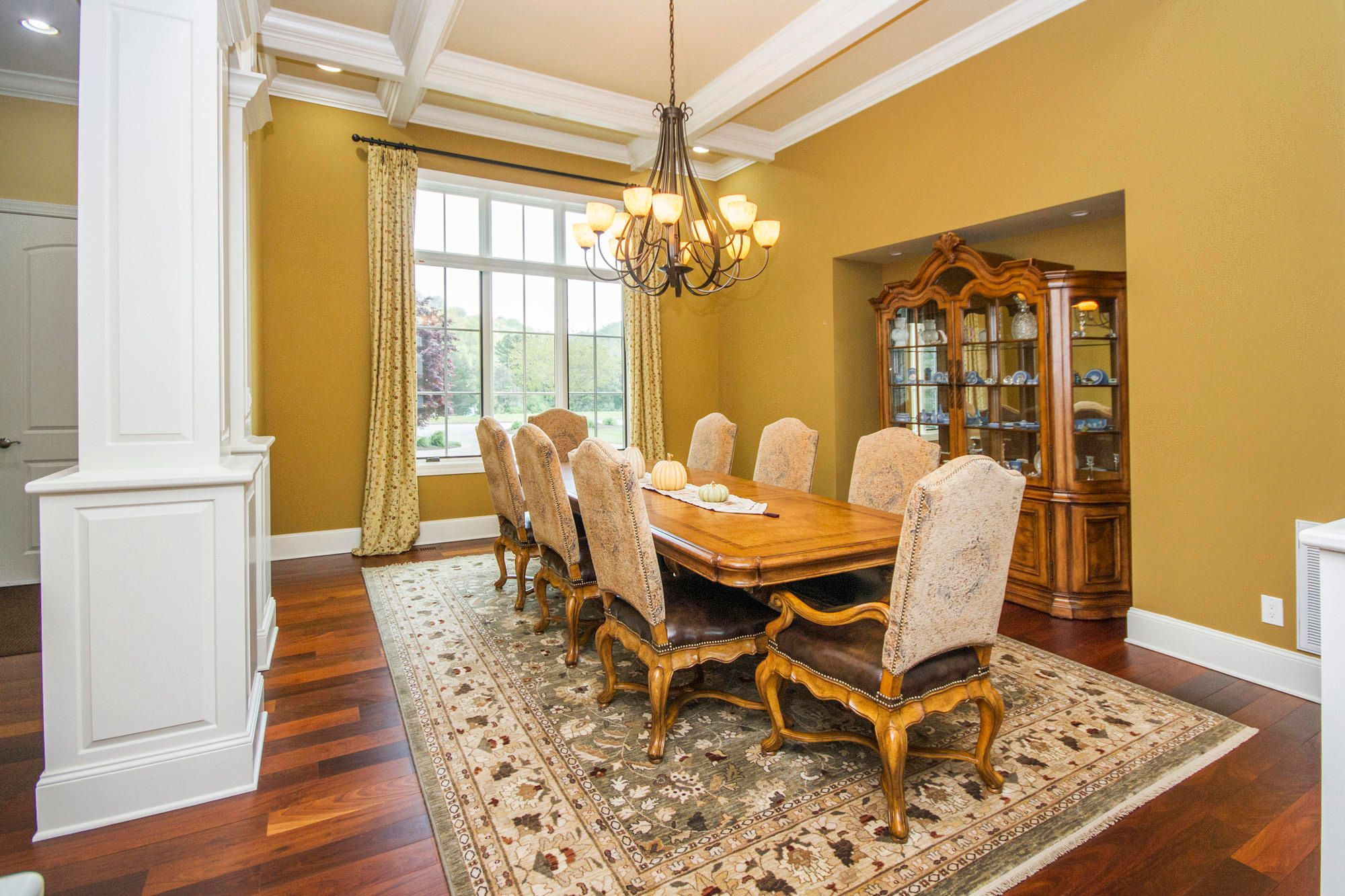 Coffered Ceiling in Formal Dining Area
