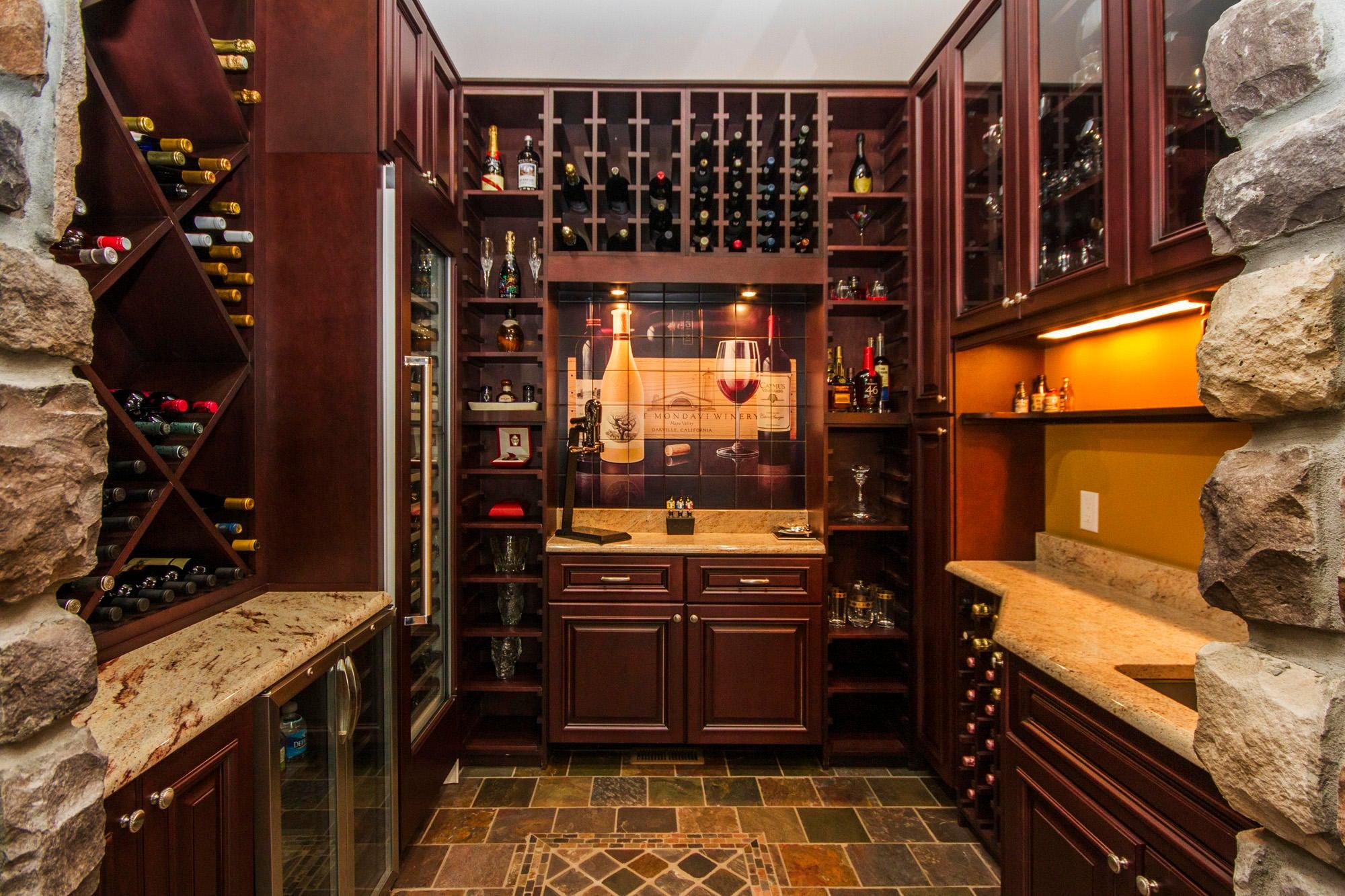 Wine Room Holds 400+ Bottles!