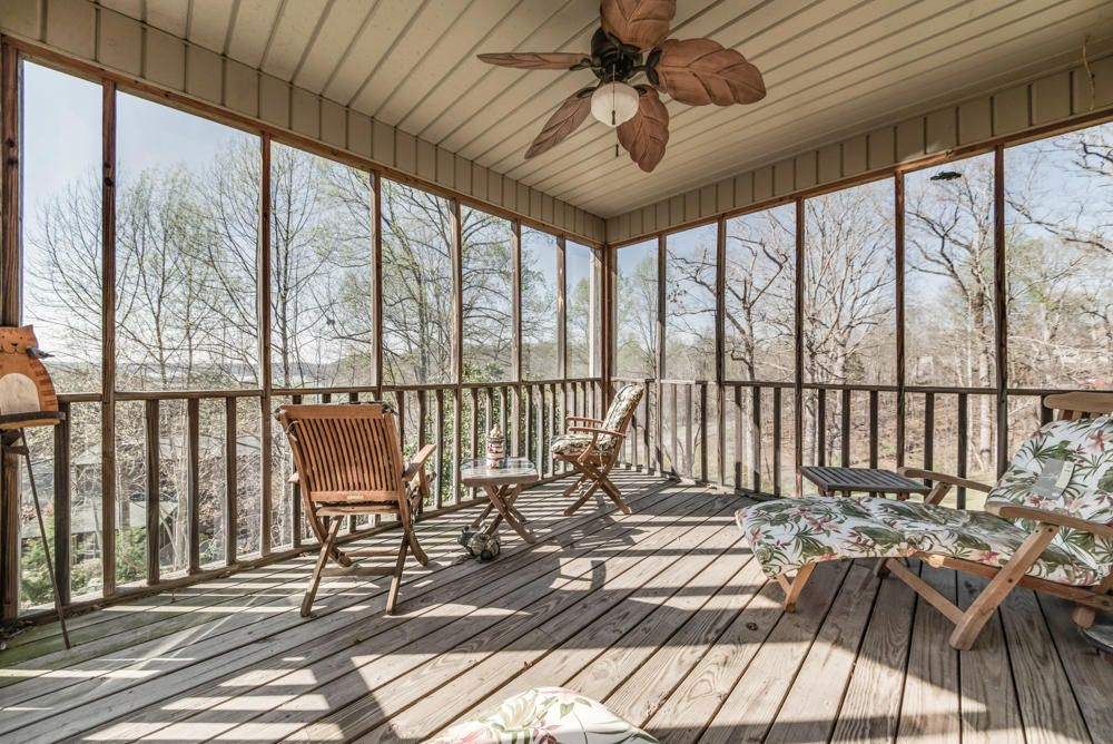 Enjoy lake views from the screened porch