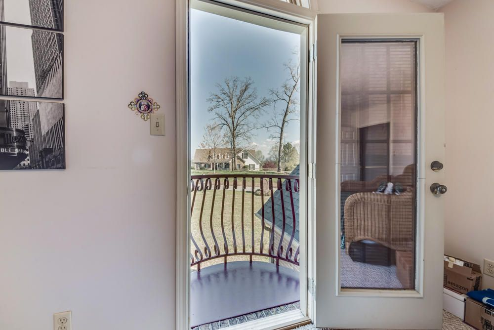 Juliet balcony off bedroom