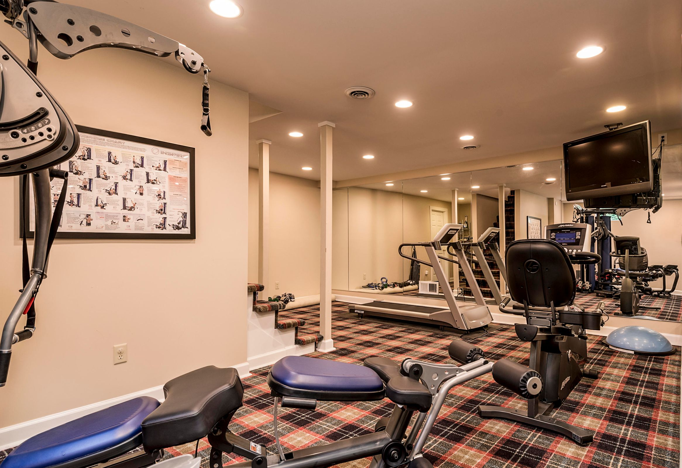 Basement Rec Room (Used as Exercise Rm)