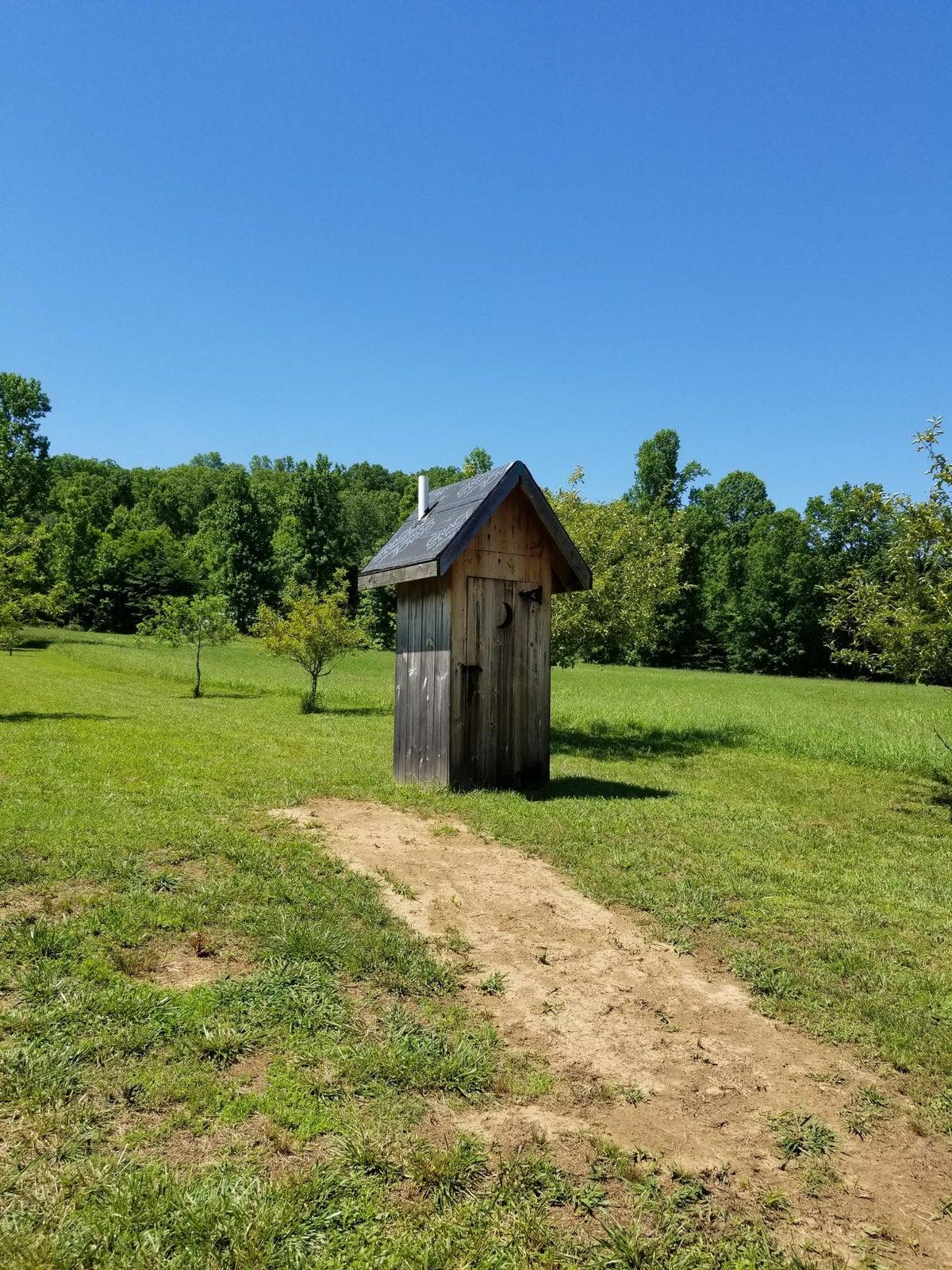 Outhouse near Lake
