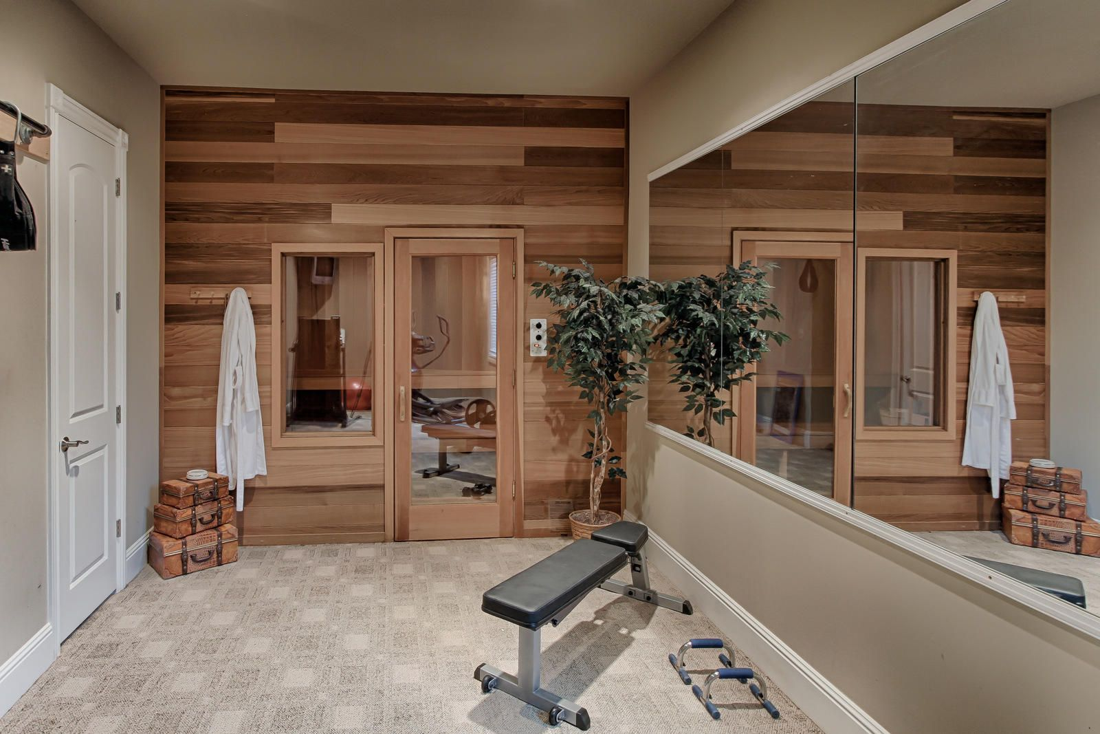Sauna and workout room
