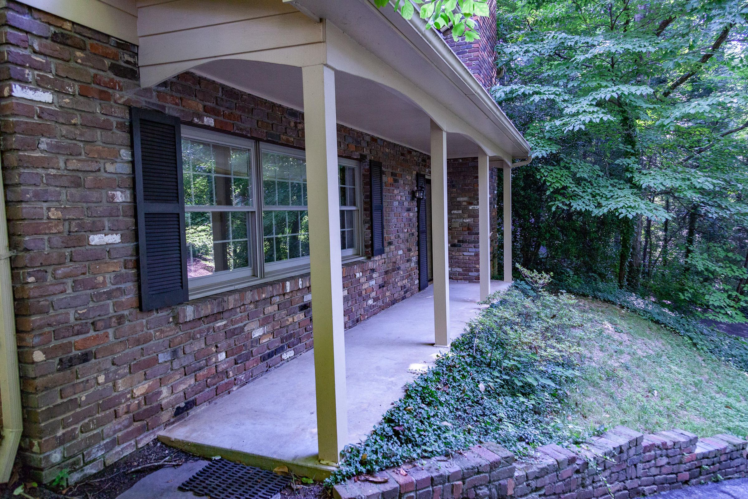 Covered porch entry