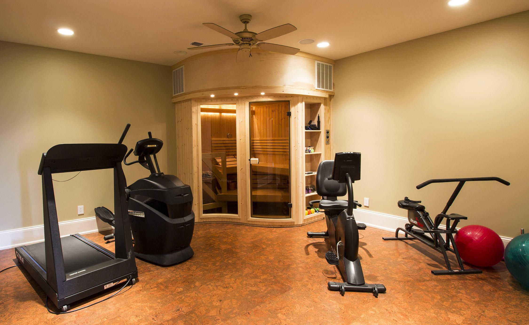 Exercise Room and Sauna Lower Level