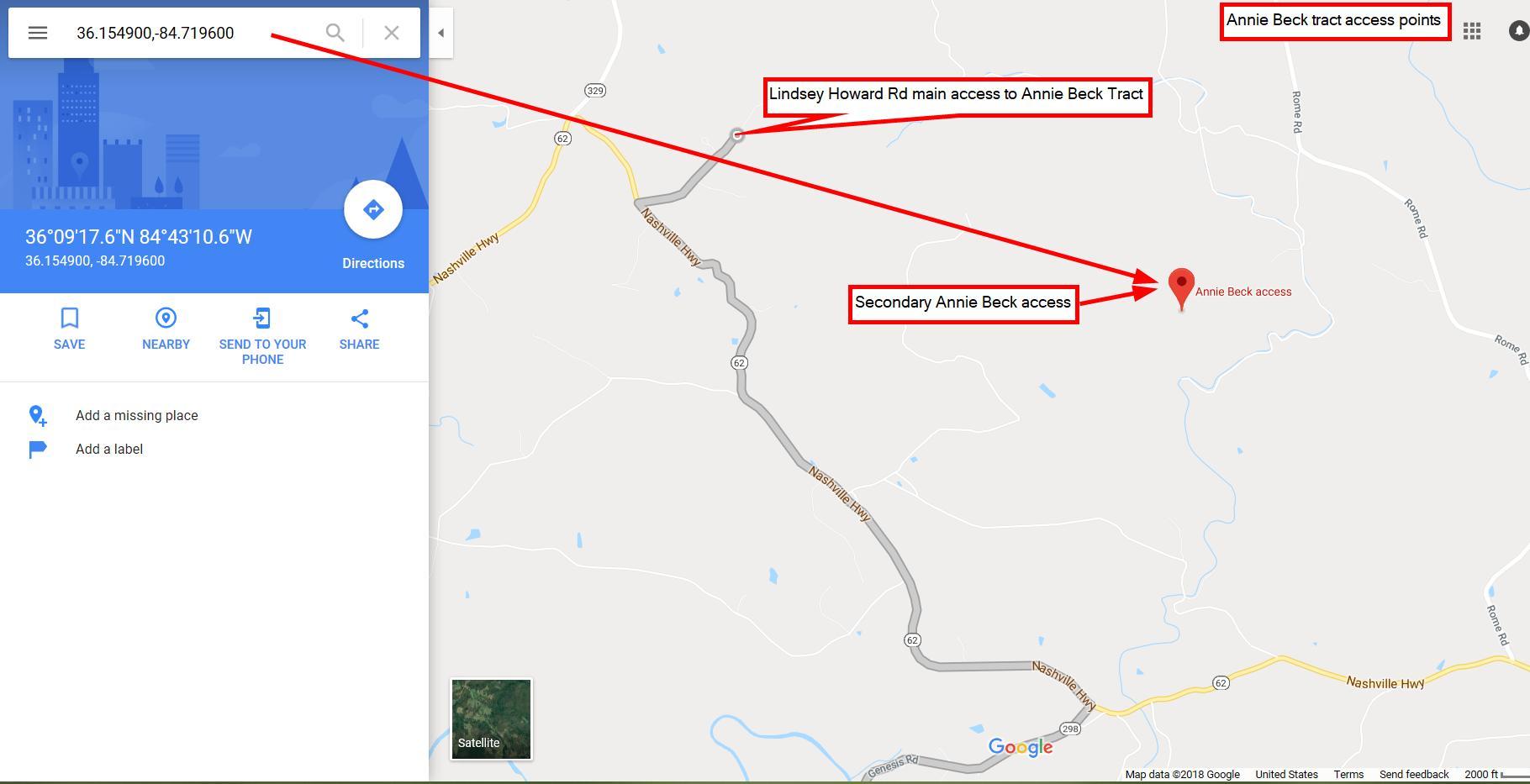 Google access map