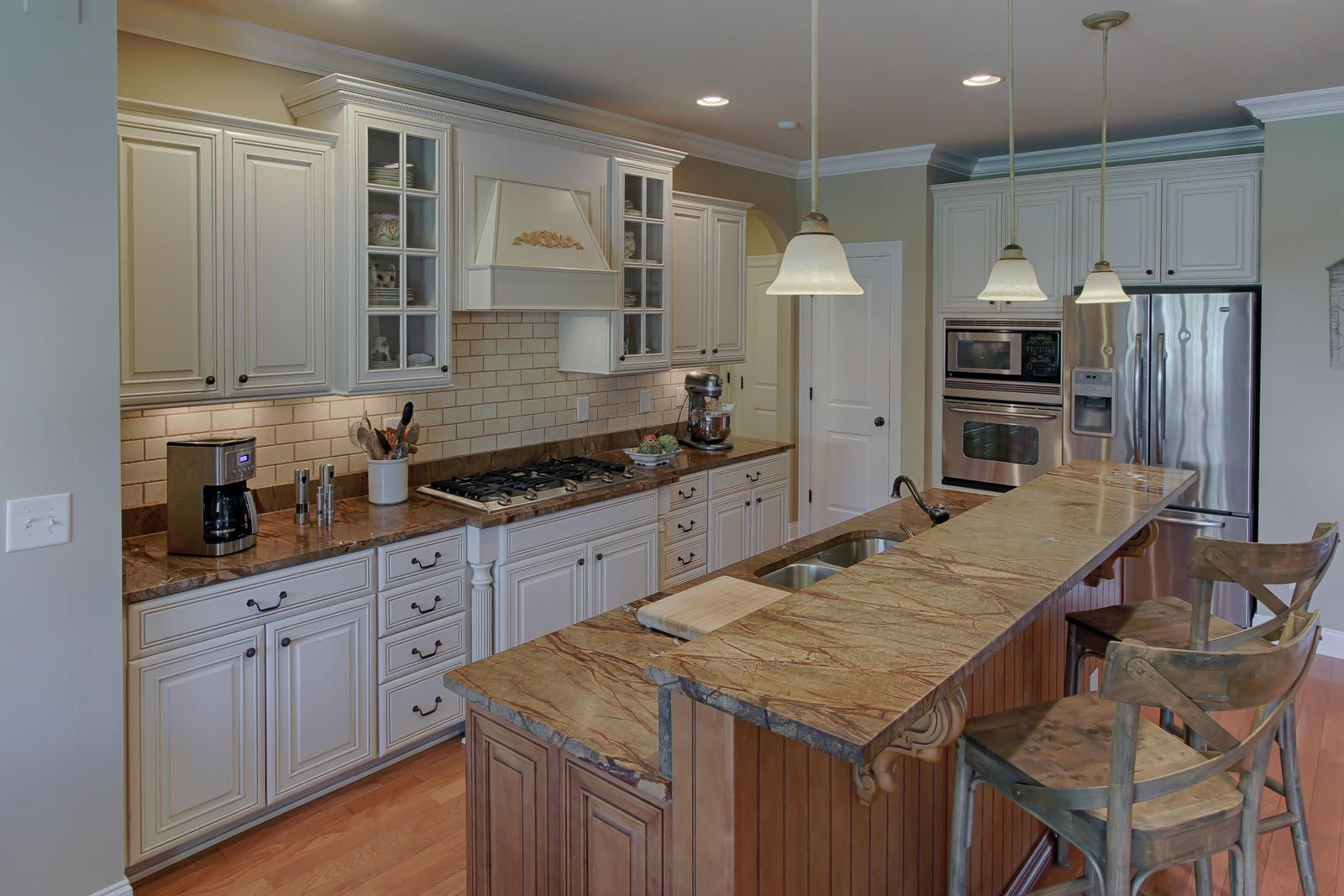 White Cabinets and Granite Counters