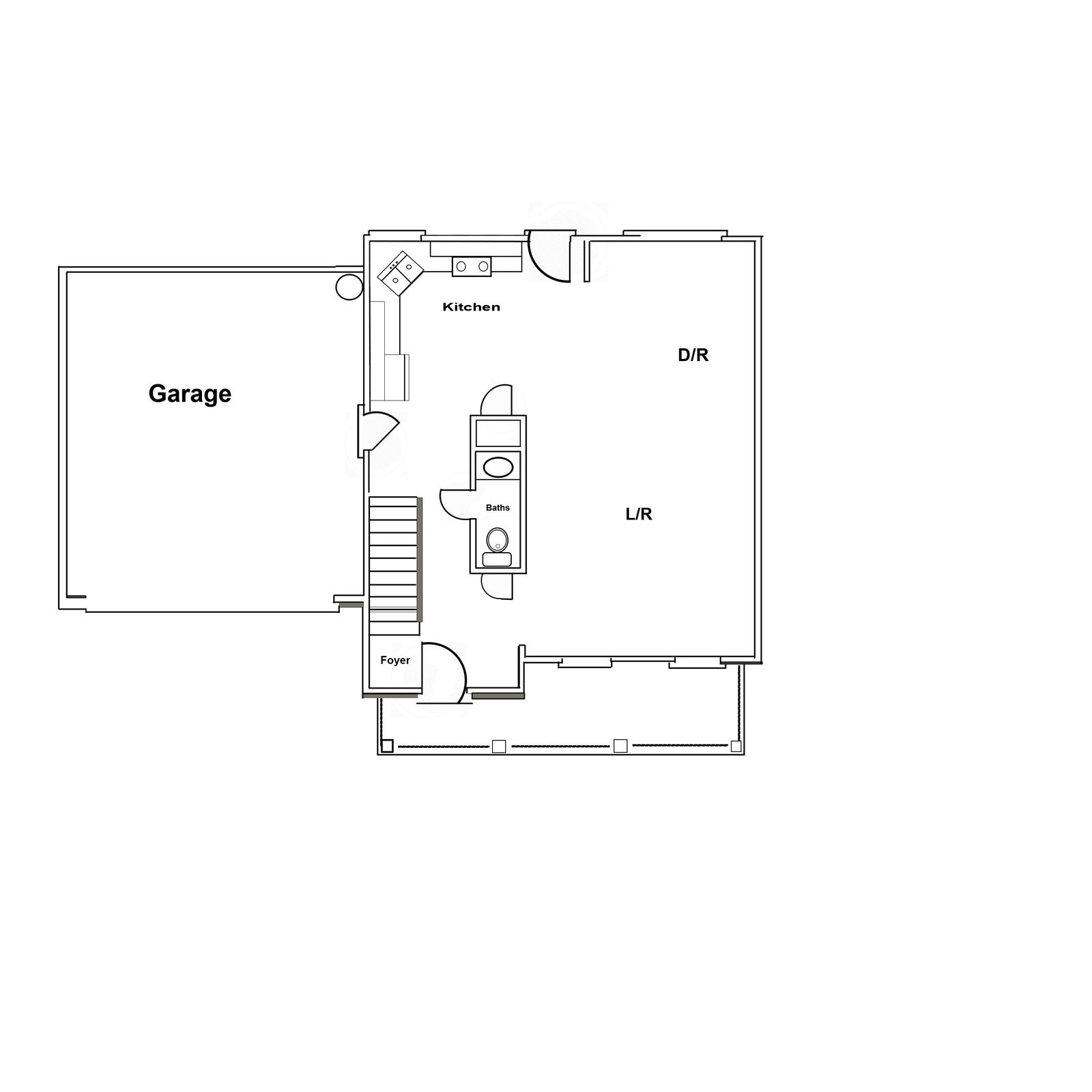 The Bedford - 2000 Sq ft floor plan - fi