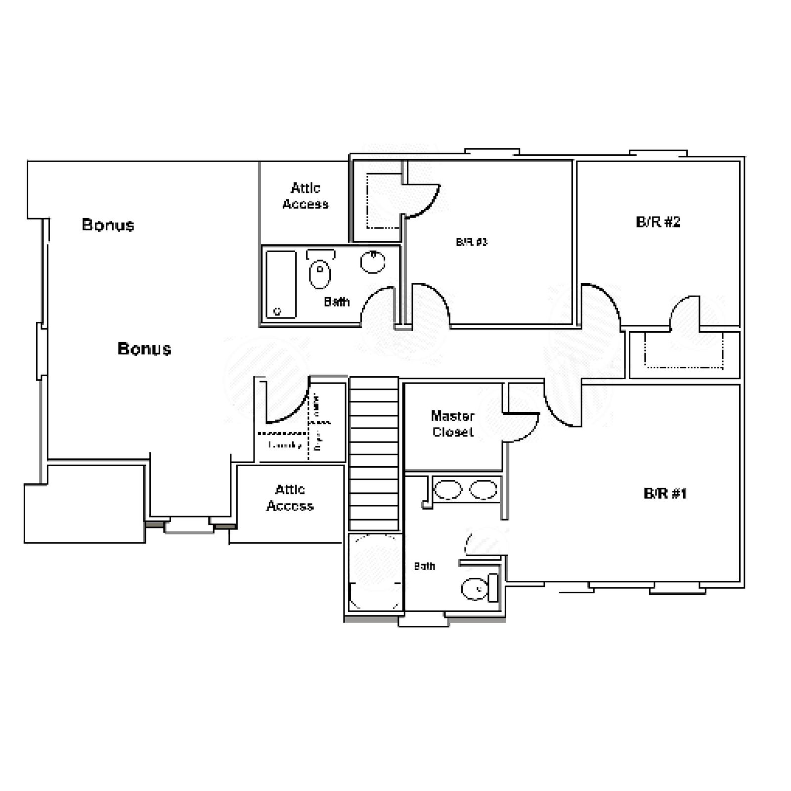 The Bedford - 2000 Sq ft floor plan - se