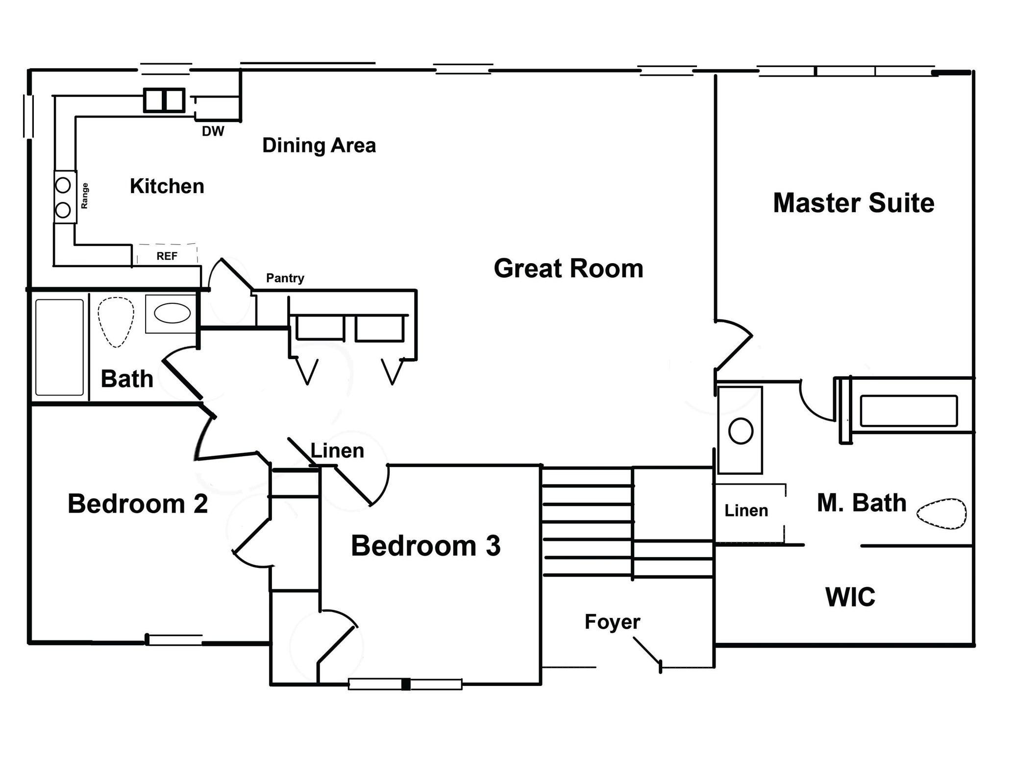 The Elkton - 1850 sq ft floor plan - fir
