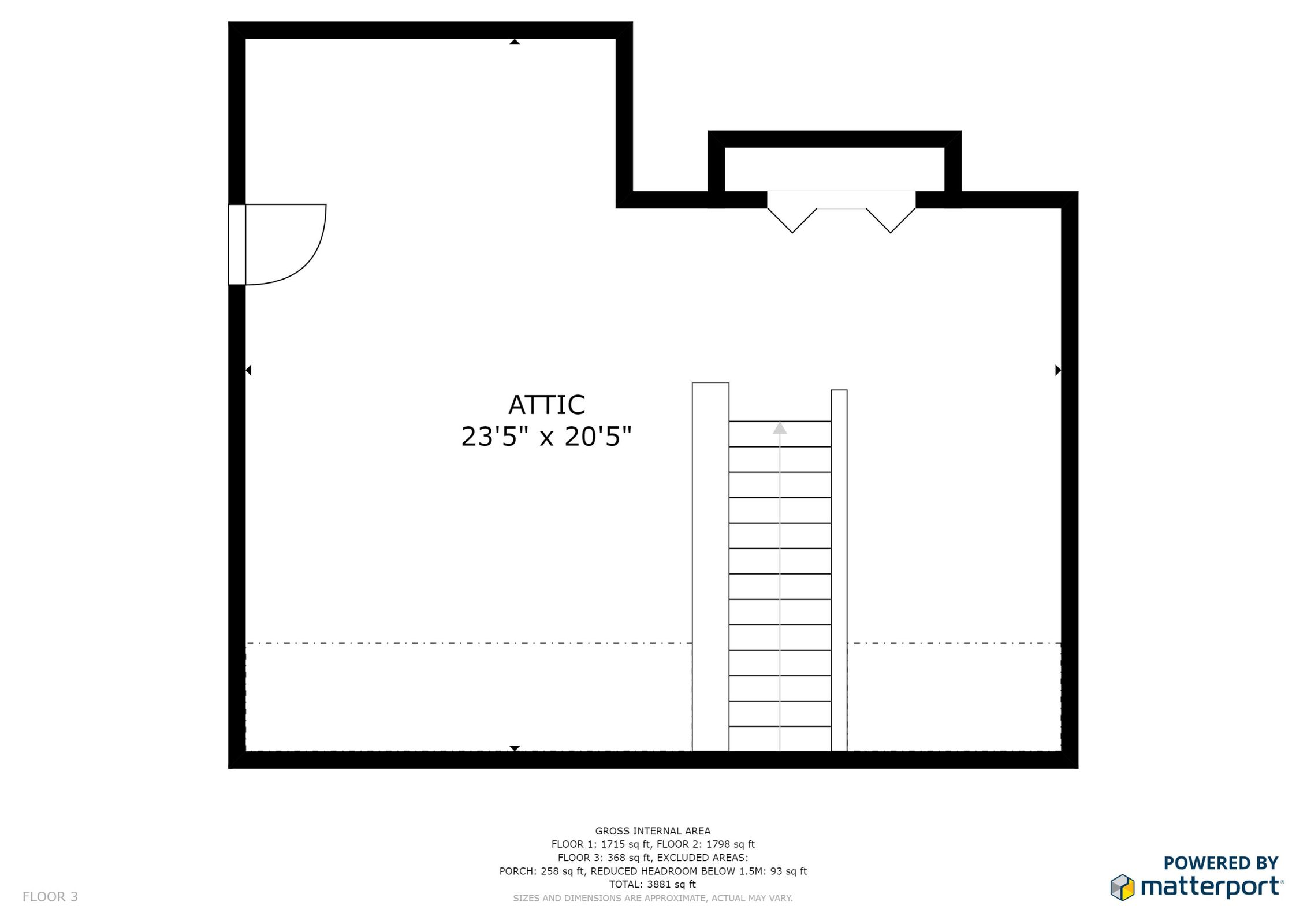 3rd Level Foor Plan