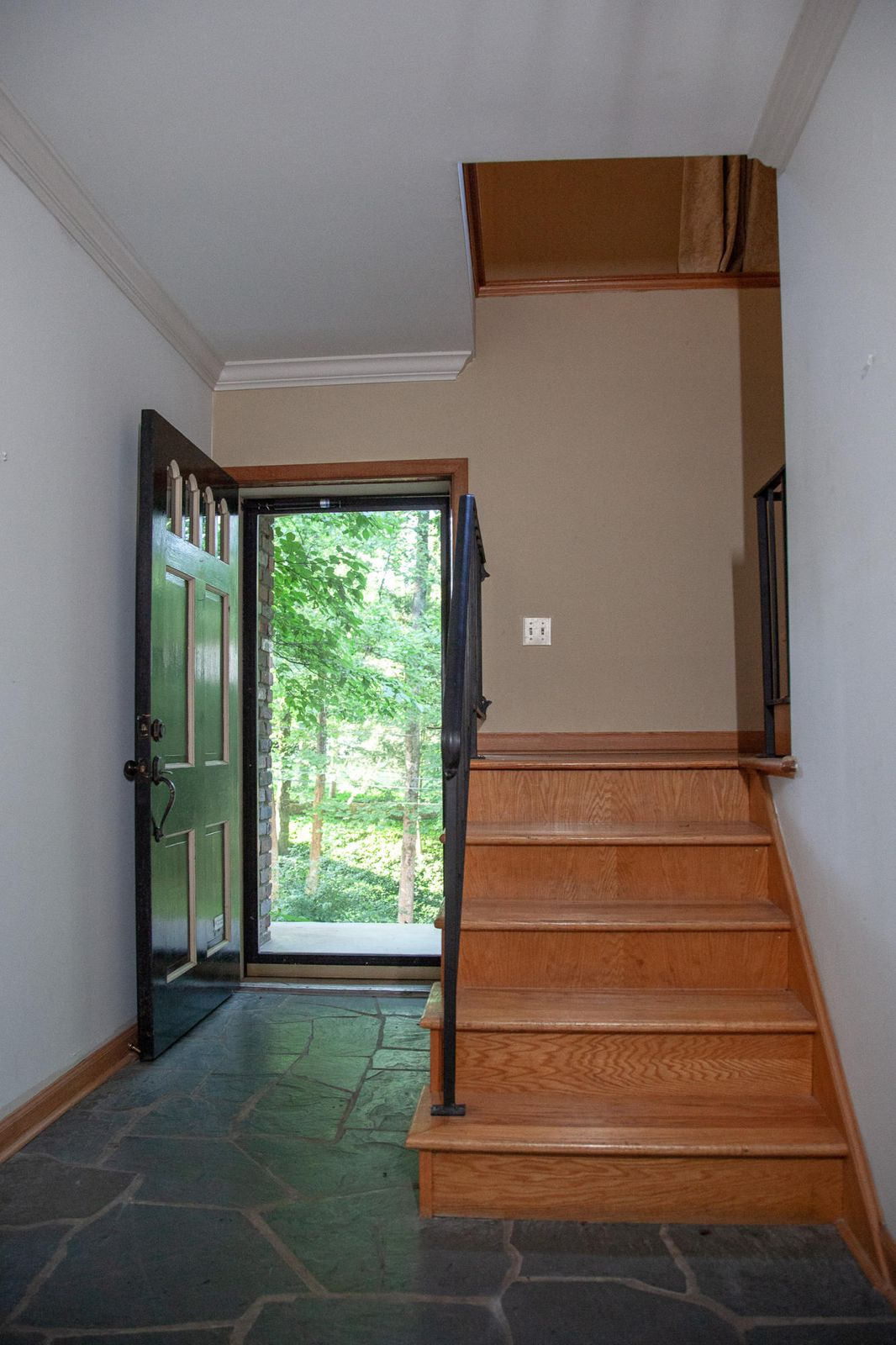 Entry with slate floor