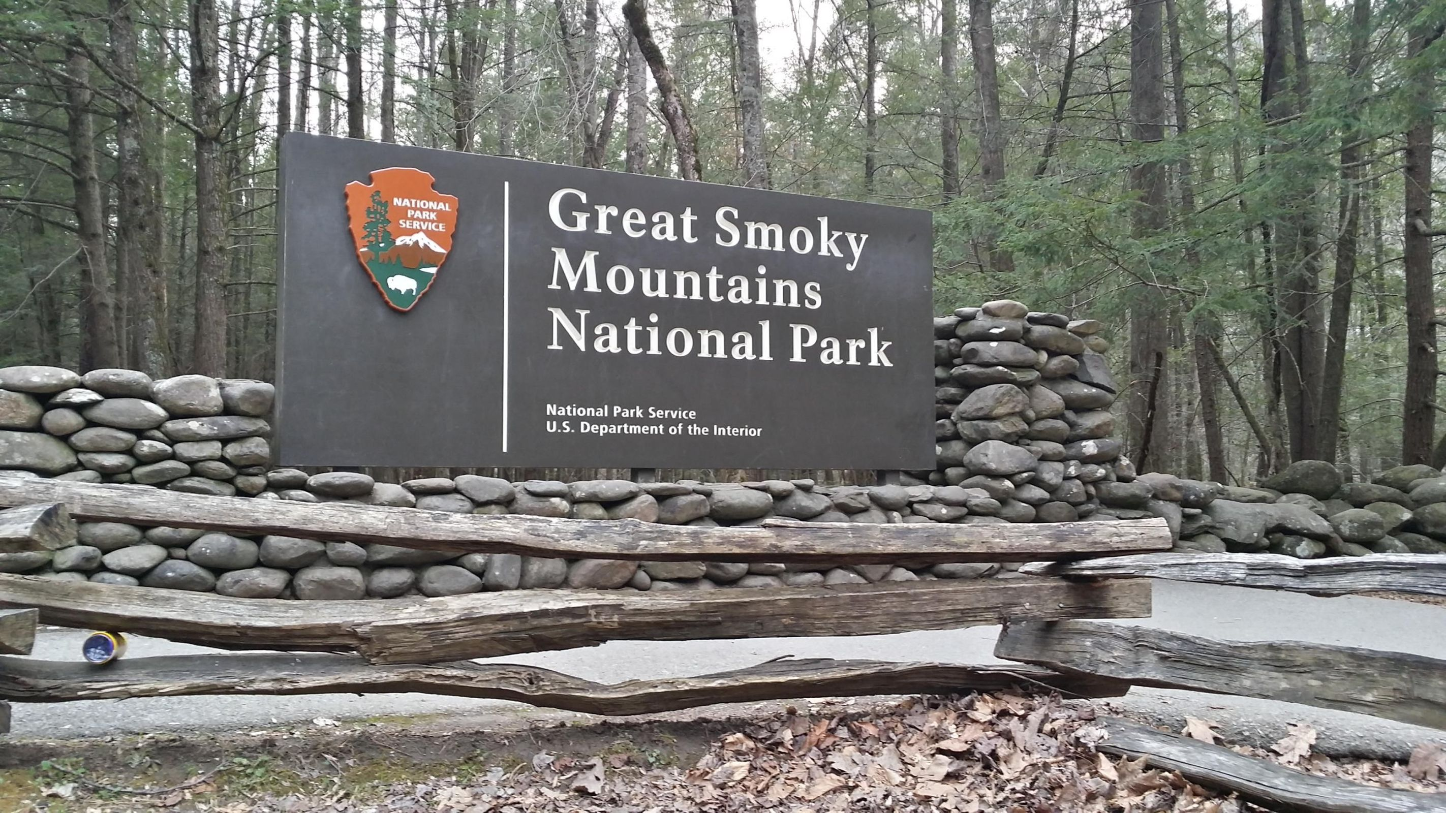 Great Smoky Mountains National Park sign