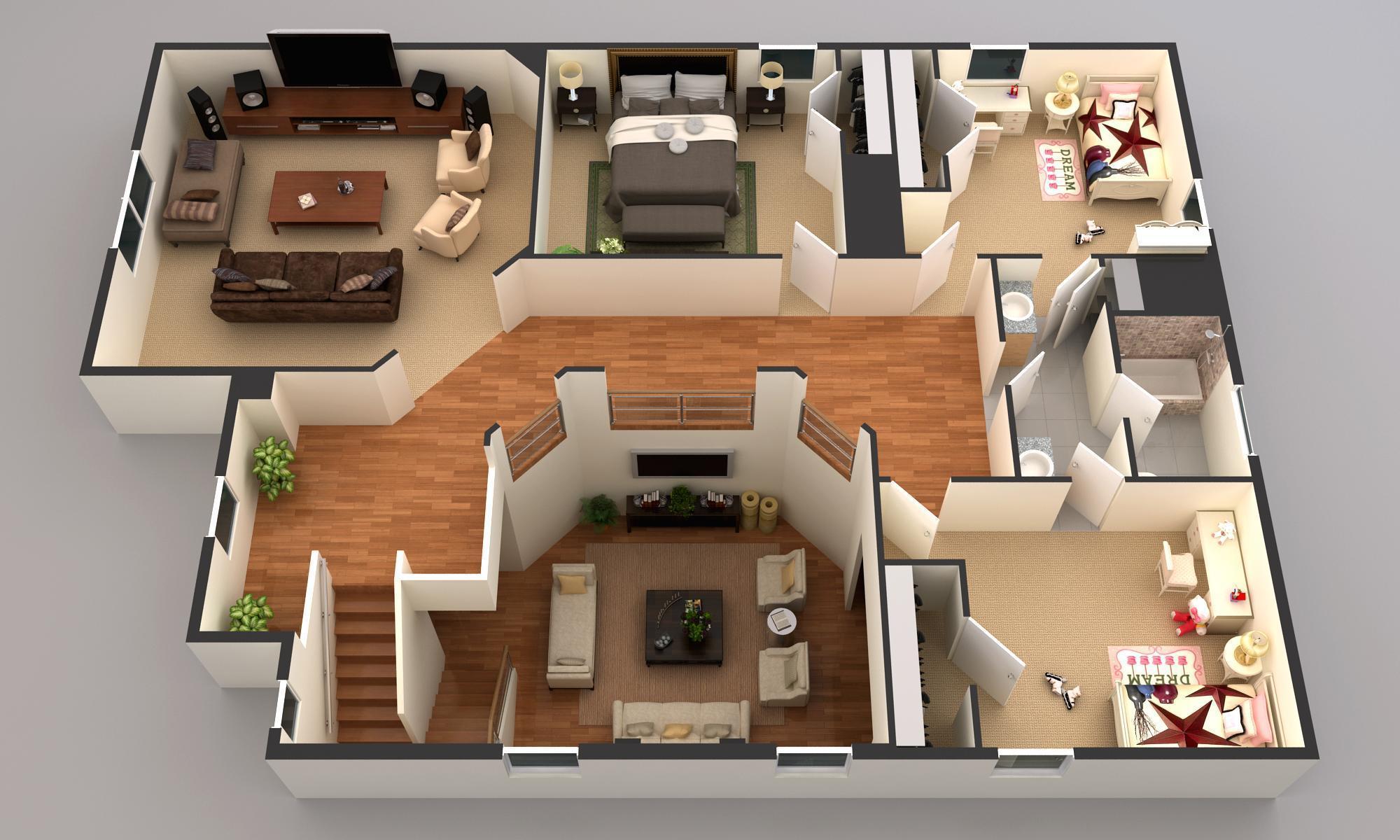 Wellington 2nd level rendering