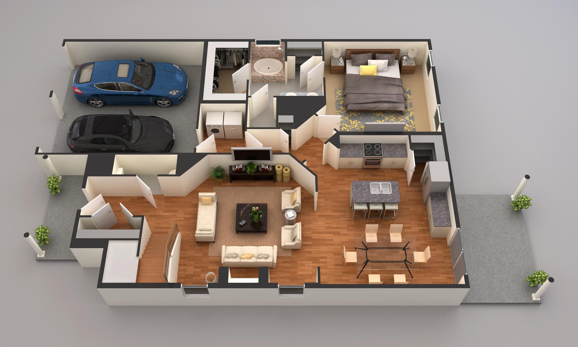 Wellington Main Level rendering
