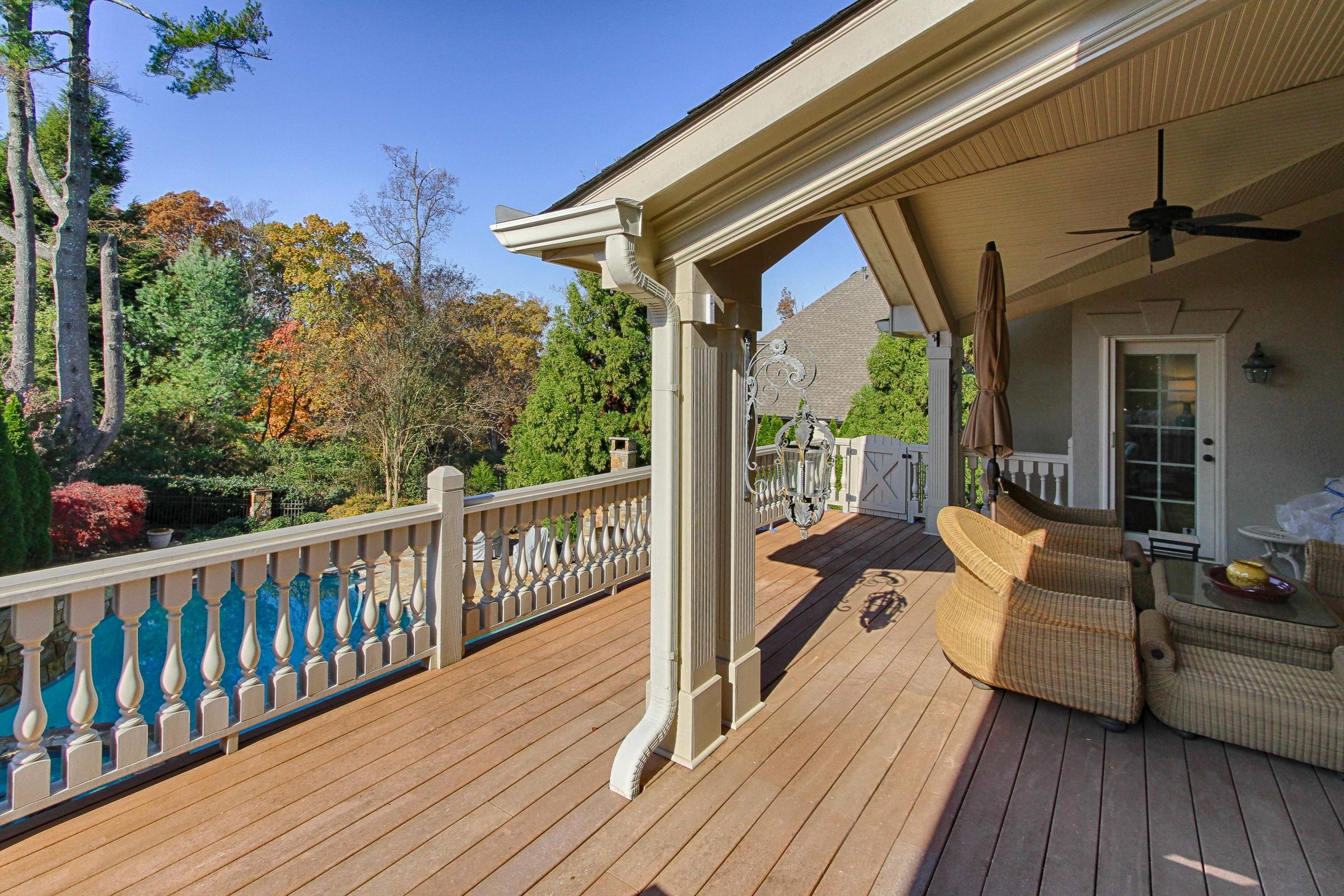 covered porch area