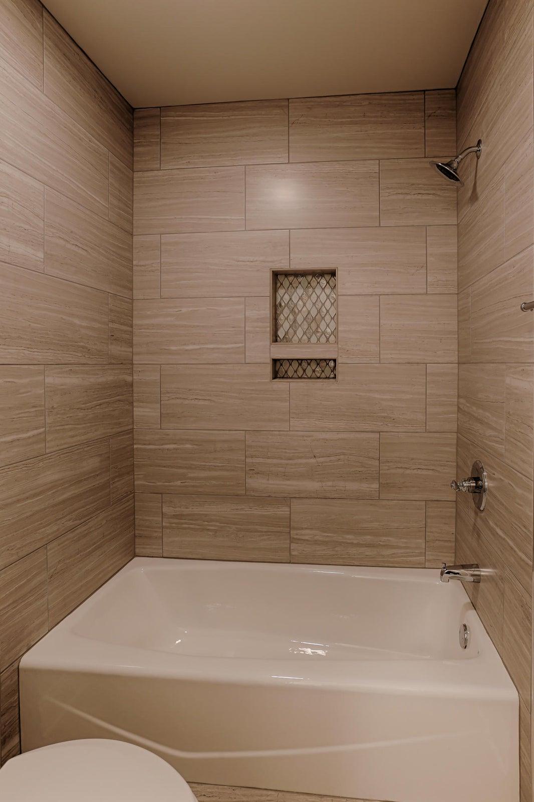 Bath 3 with designer tile