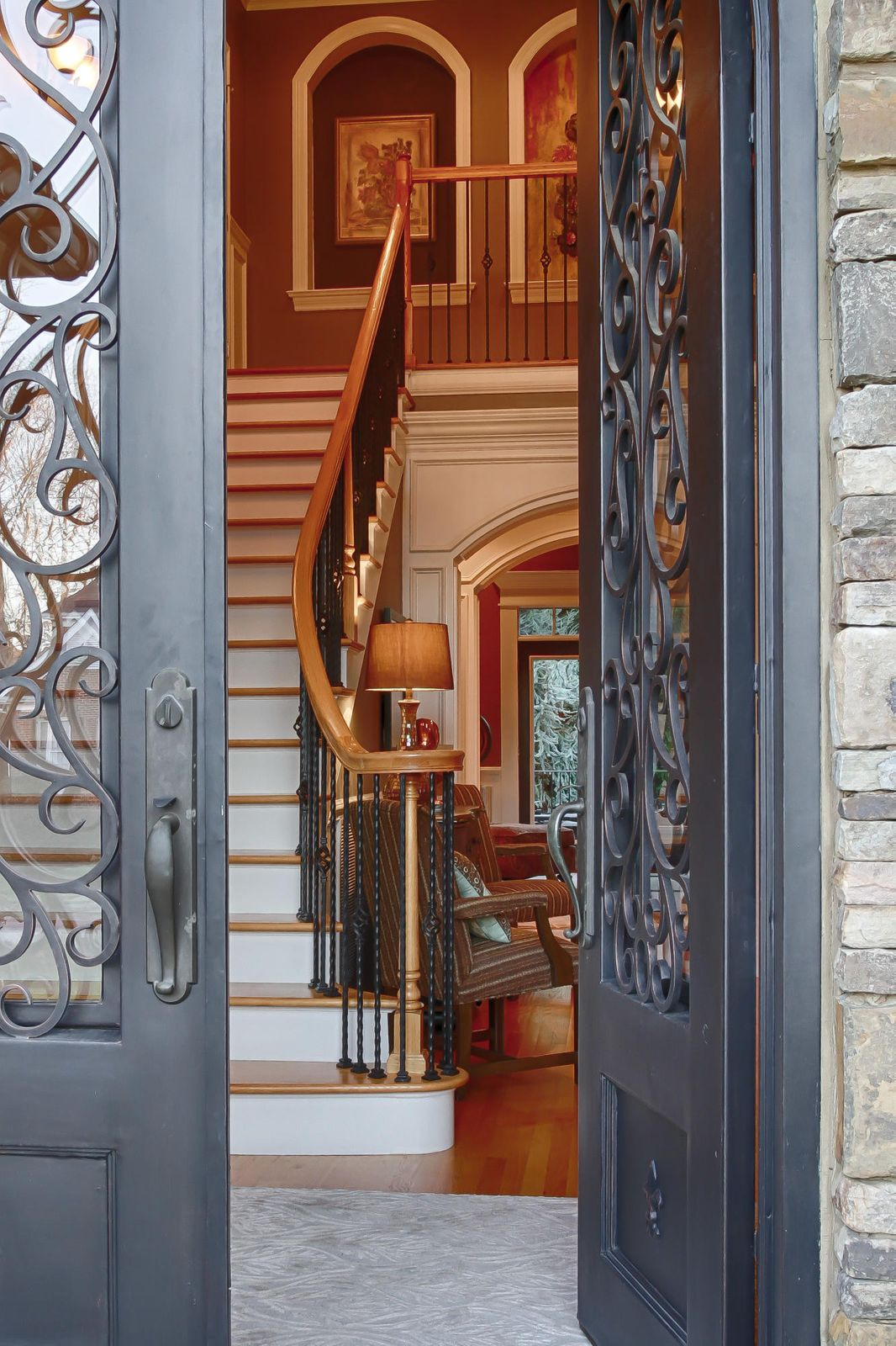 02 - Beautiful Iron Front Doors