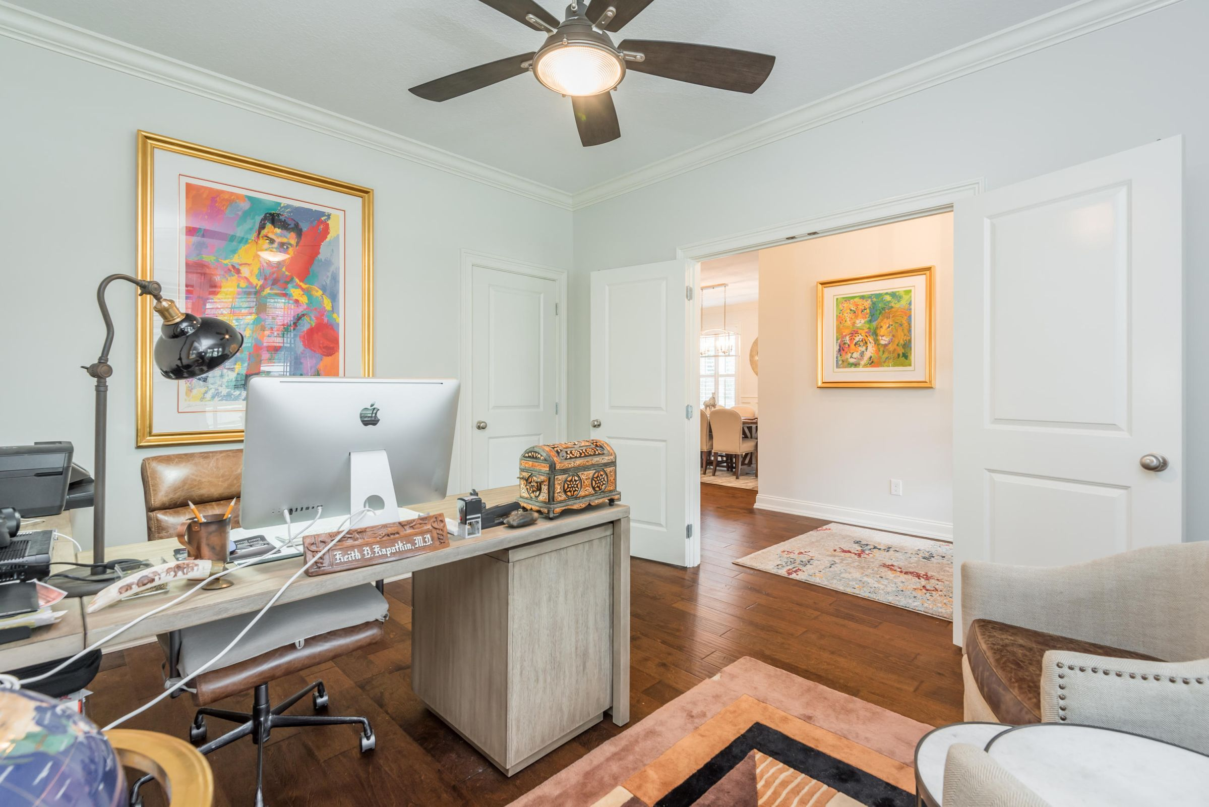 Main Level BR/Office with Hardwood