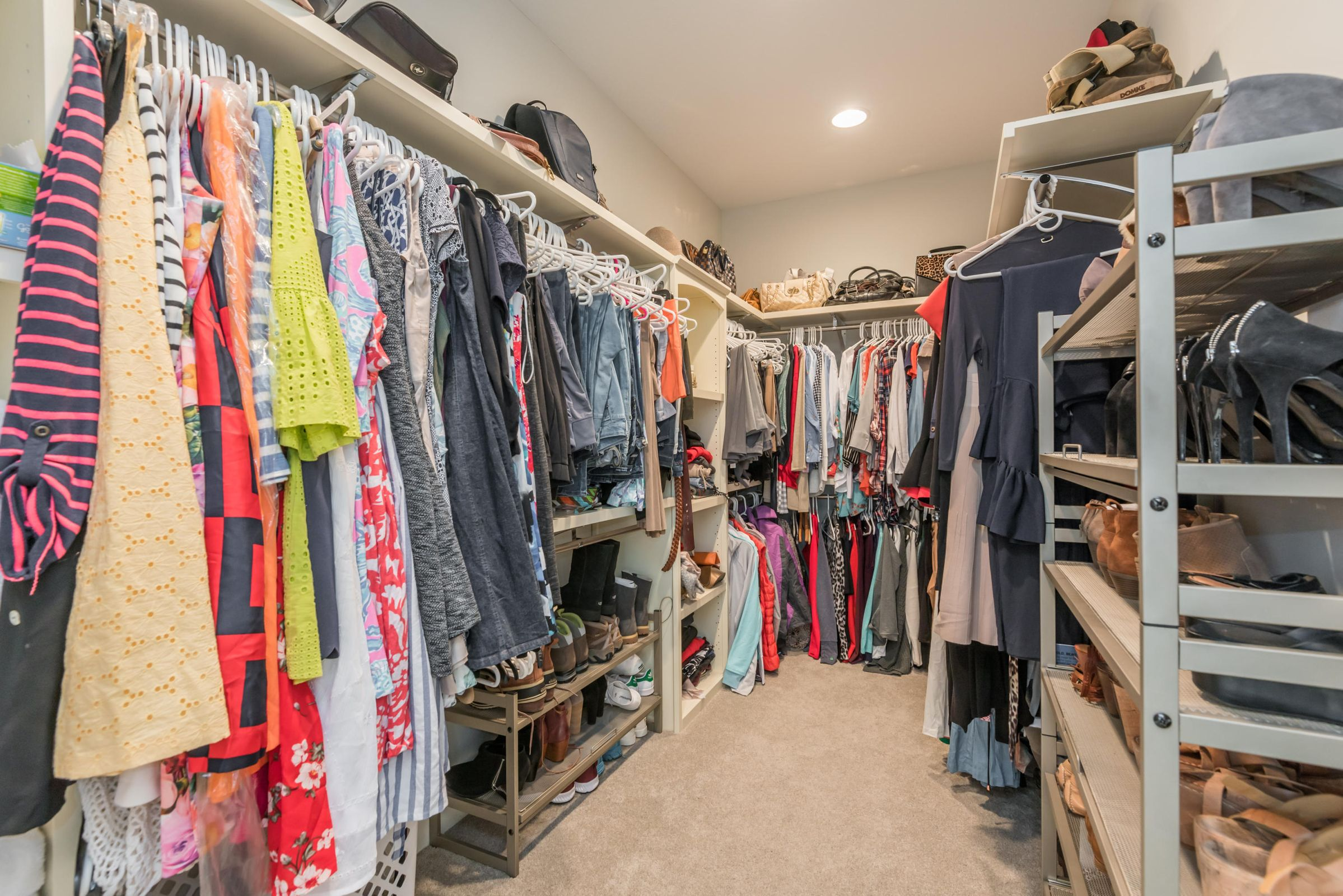 2 Walk-In Closets in Master