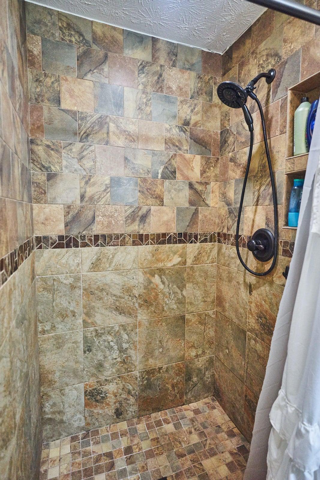 Master Shower Custom Tile