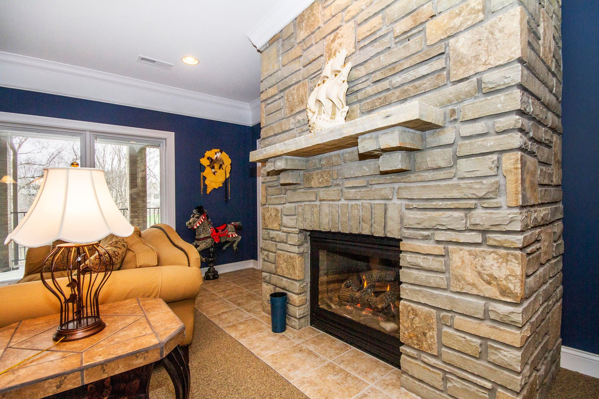 Stone Gas Fireplace