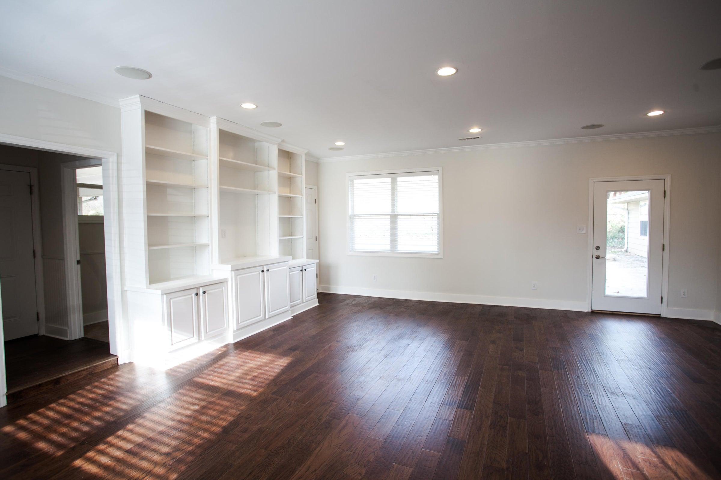 built-ins family room