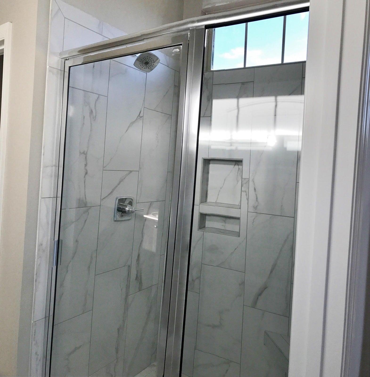 Tile shower in master bath