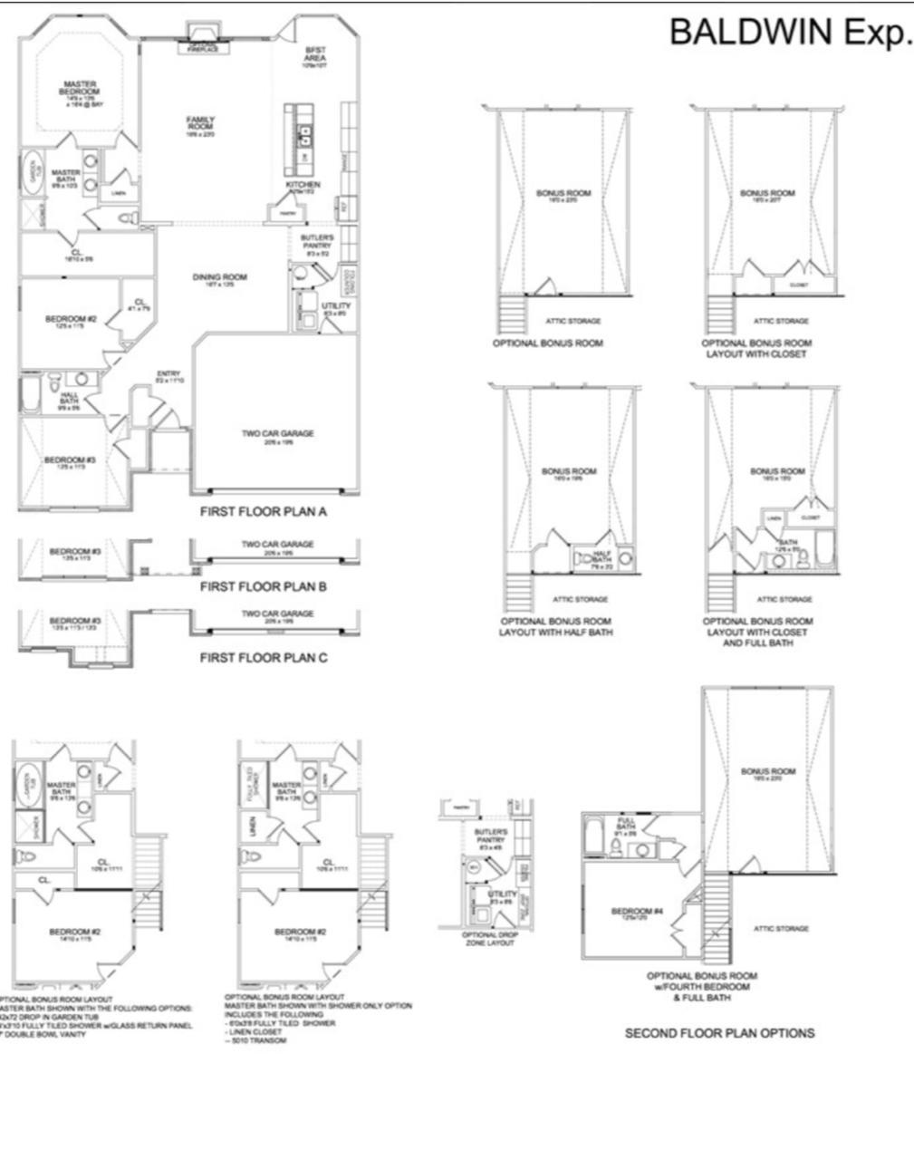 Floor plan with bonus