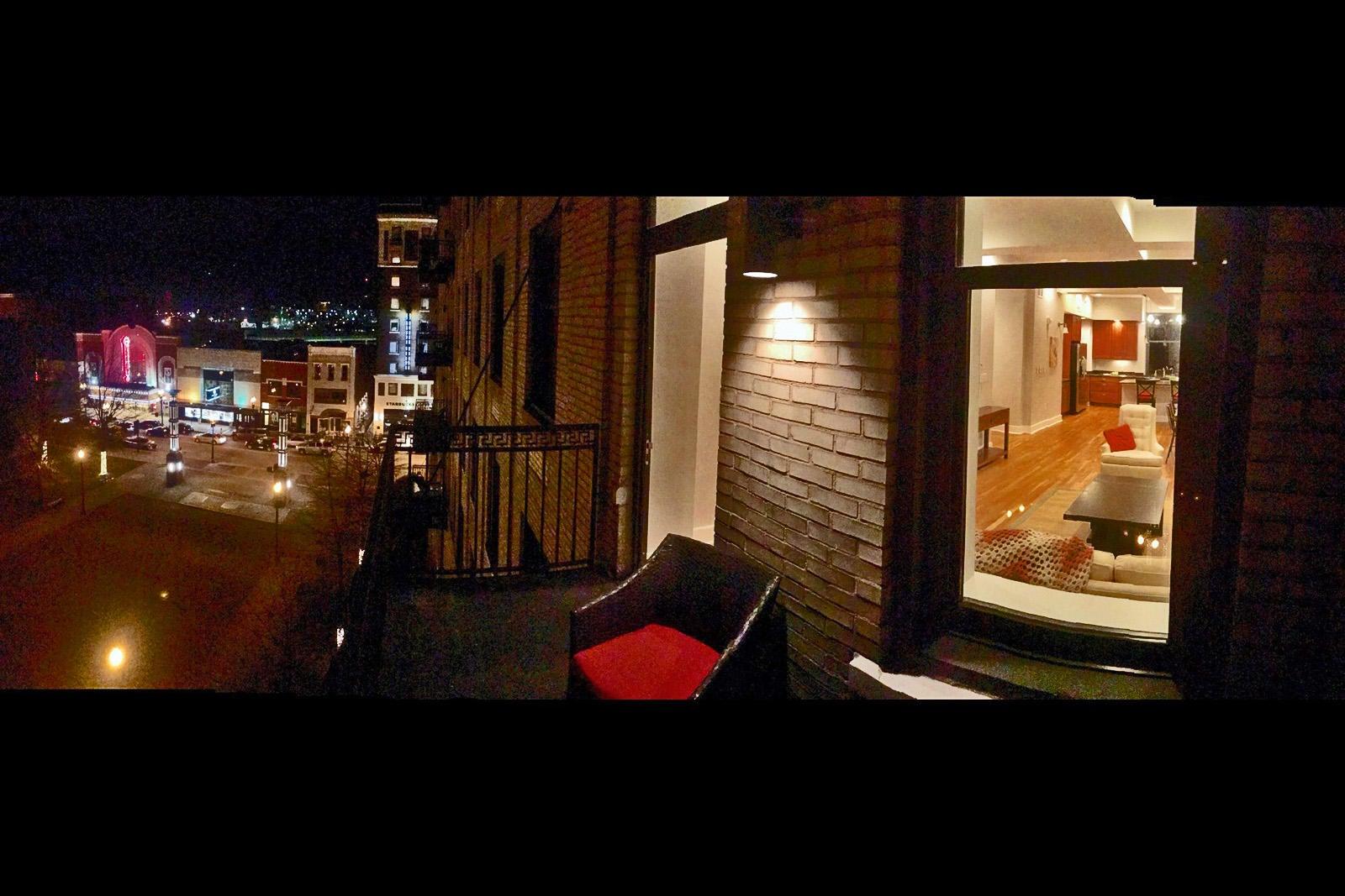 Holston 503 - 07 Balcony at night Gay St