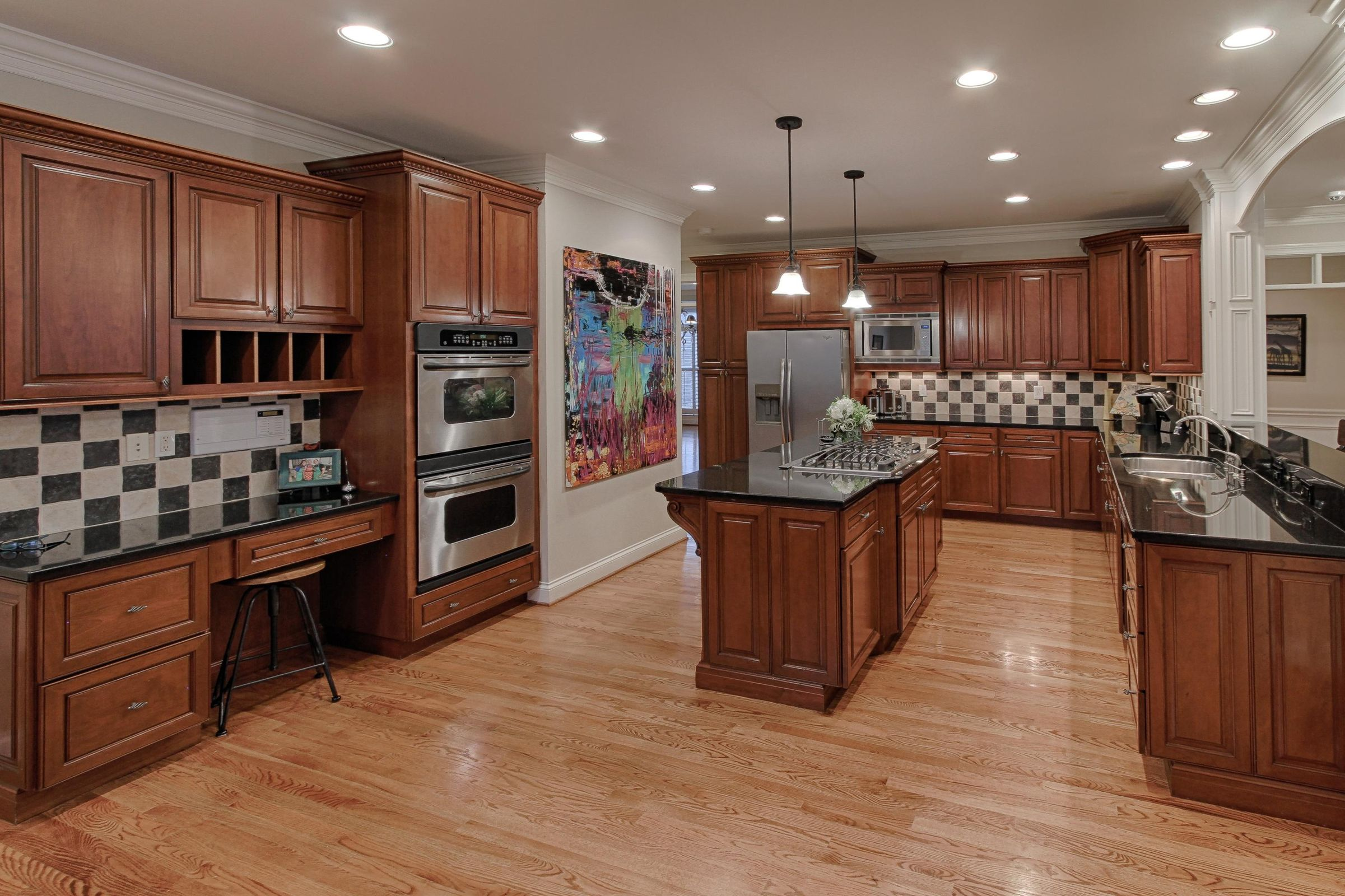 Kitchen with Double Ovens and Gas Stove