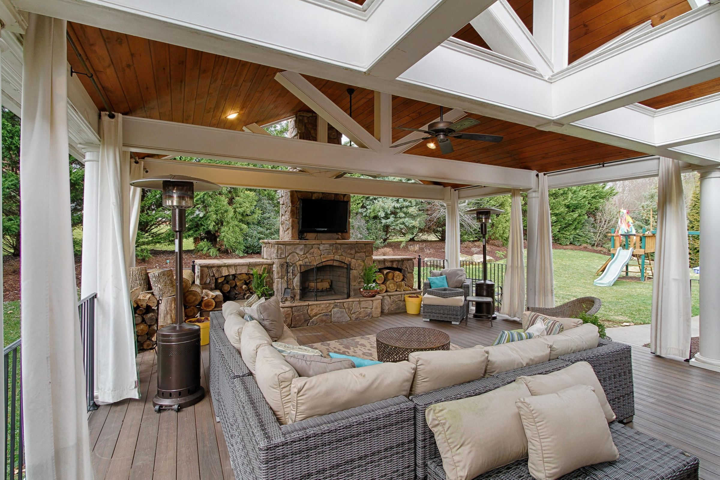 Outdoor Living Room with Woodburning Fir