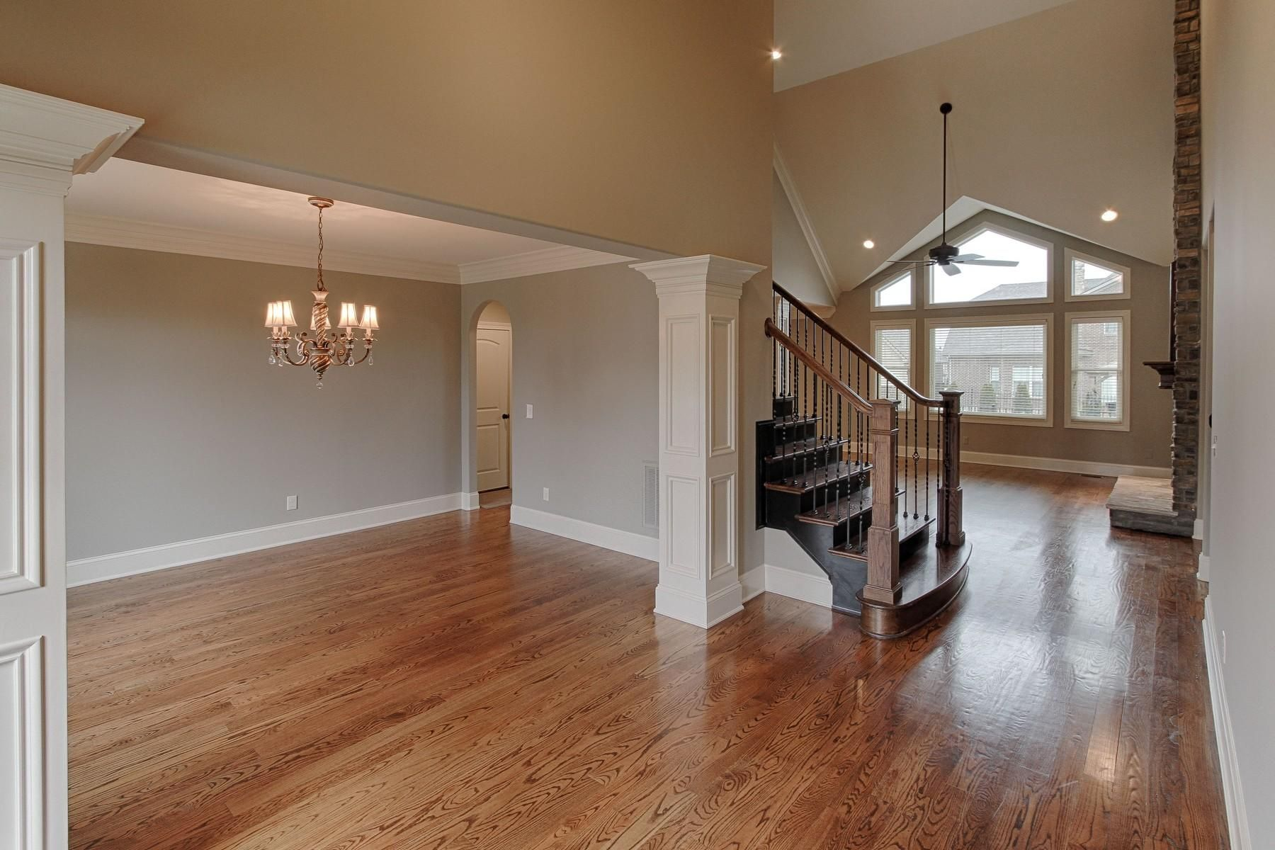 Dining room open to foyer